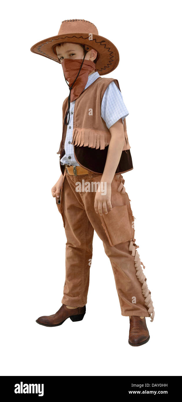 little funny cowboy - Stock Image