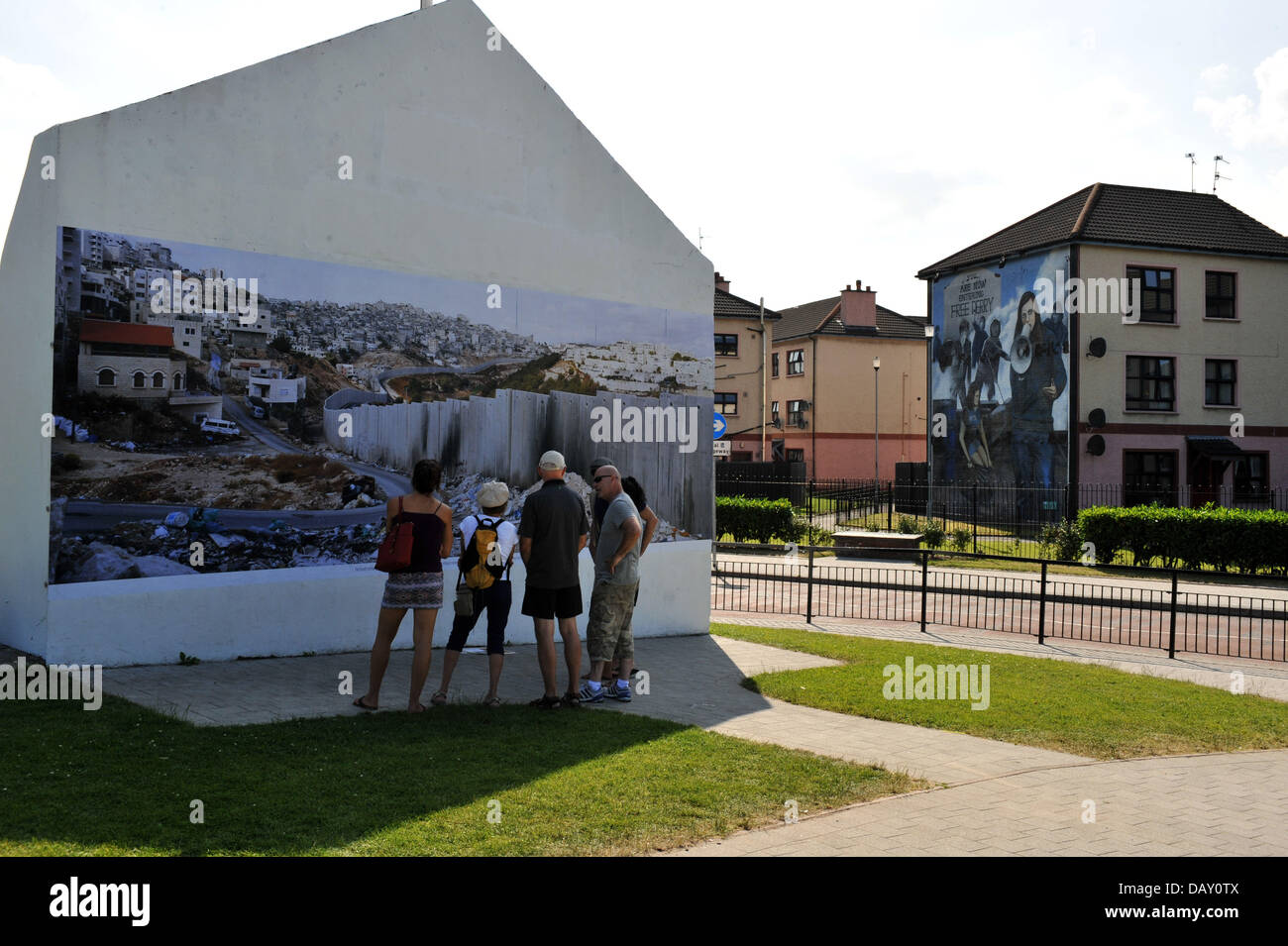 Derry/Londonderry, NI, UK. 20th July 2013. The iconic Free Derry Wall, in the Bogside, was transformed this weekend - Stock Image