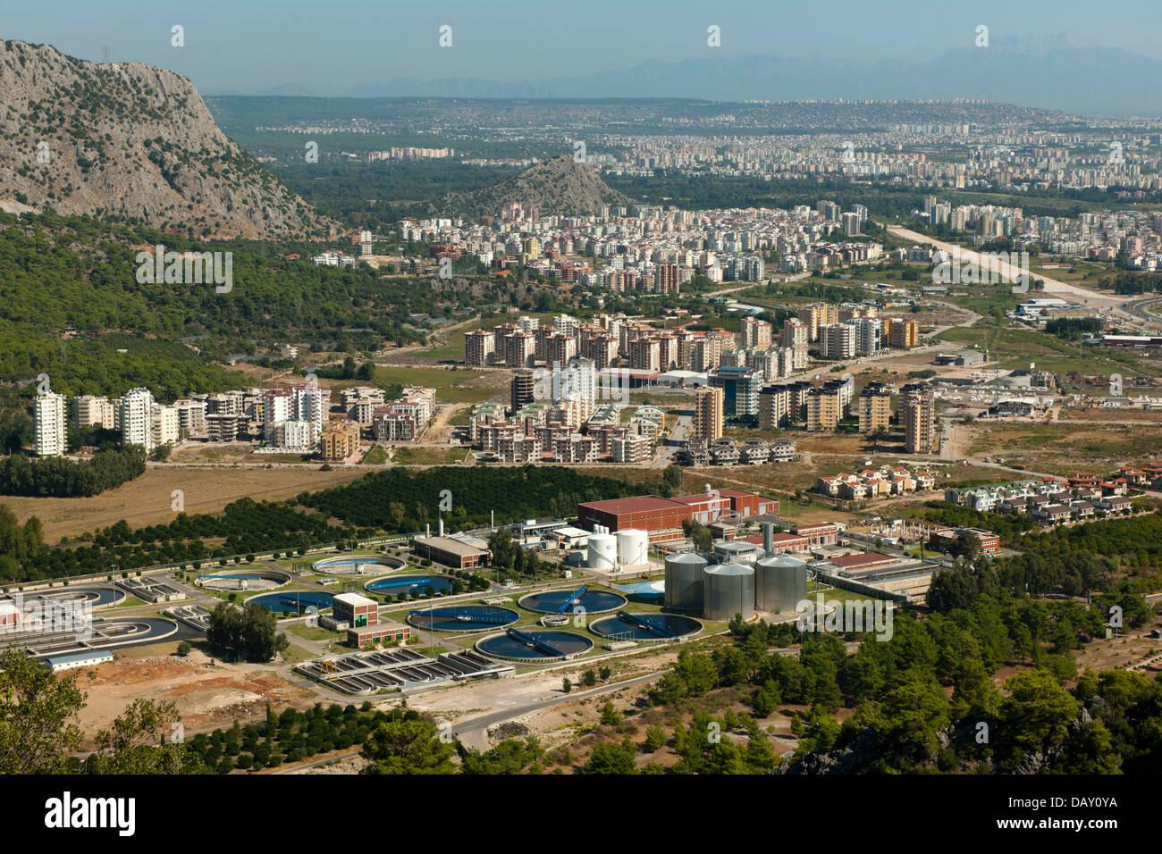 Türkei, Provinz Antalya, Blick auf die Bucht von Antalya vom Tünektepe - Stock Image