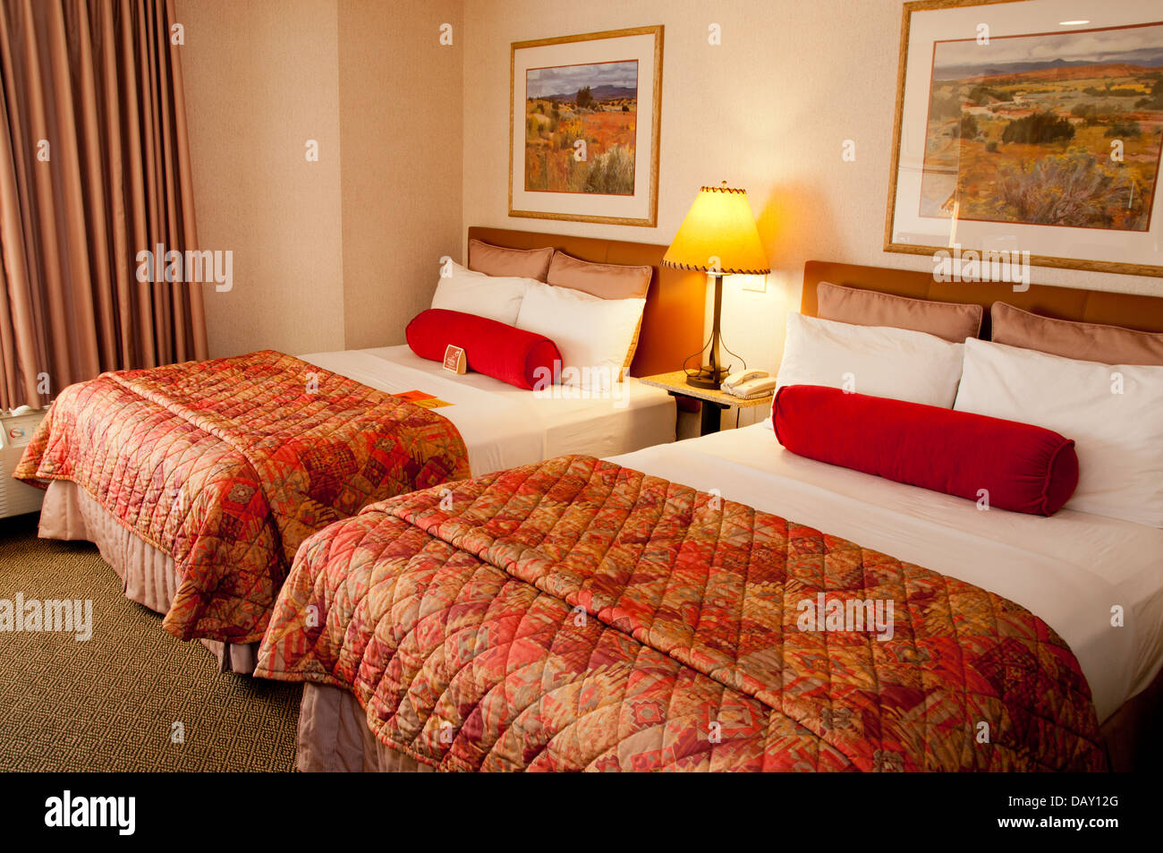 Hotel room interior - Stock Image