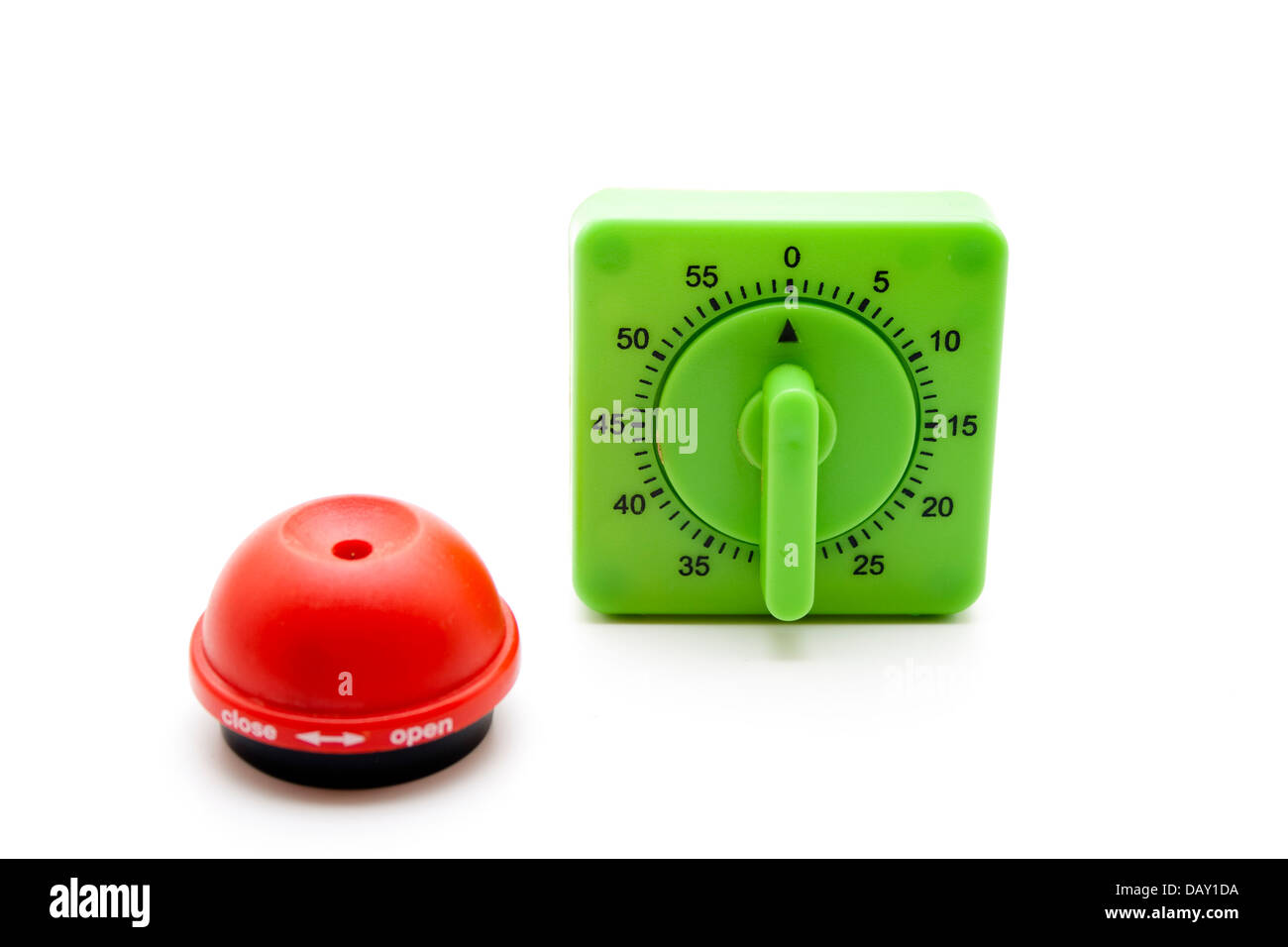 Egg timer with egg spike - Stock Image