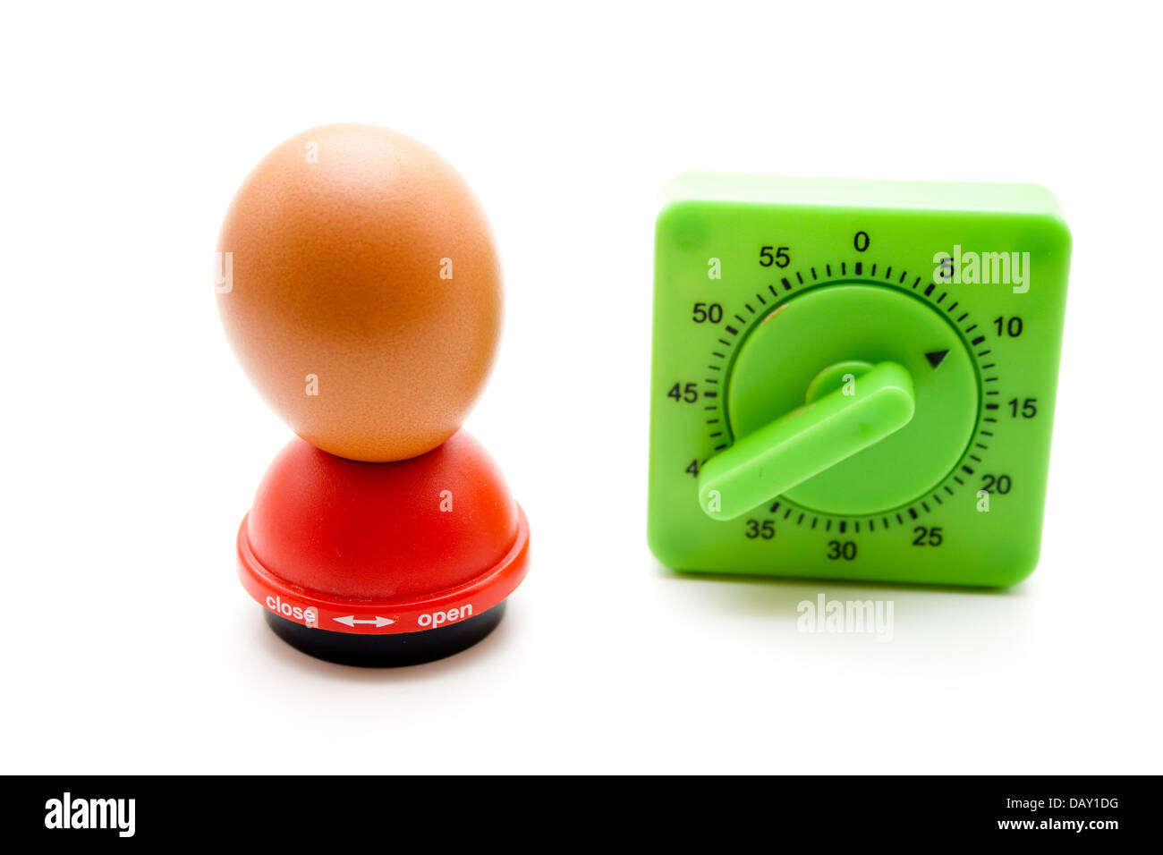 Egg timer with egg spike - Stock Image
