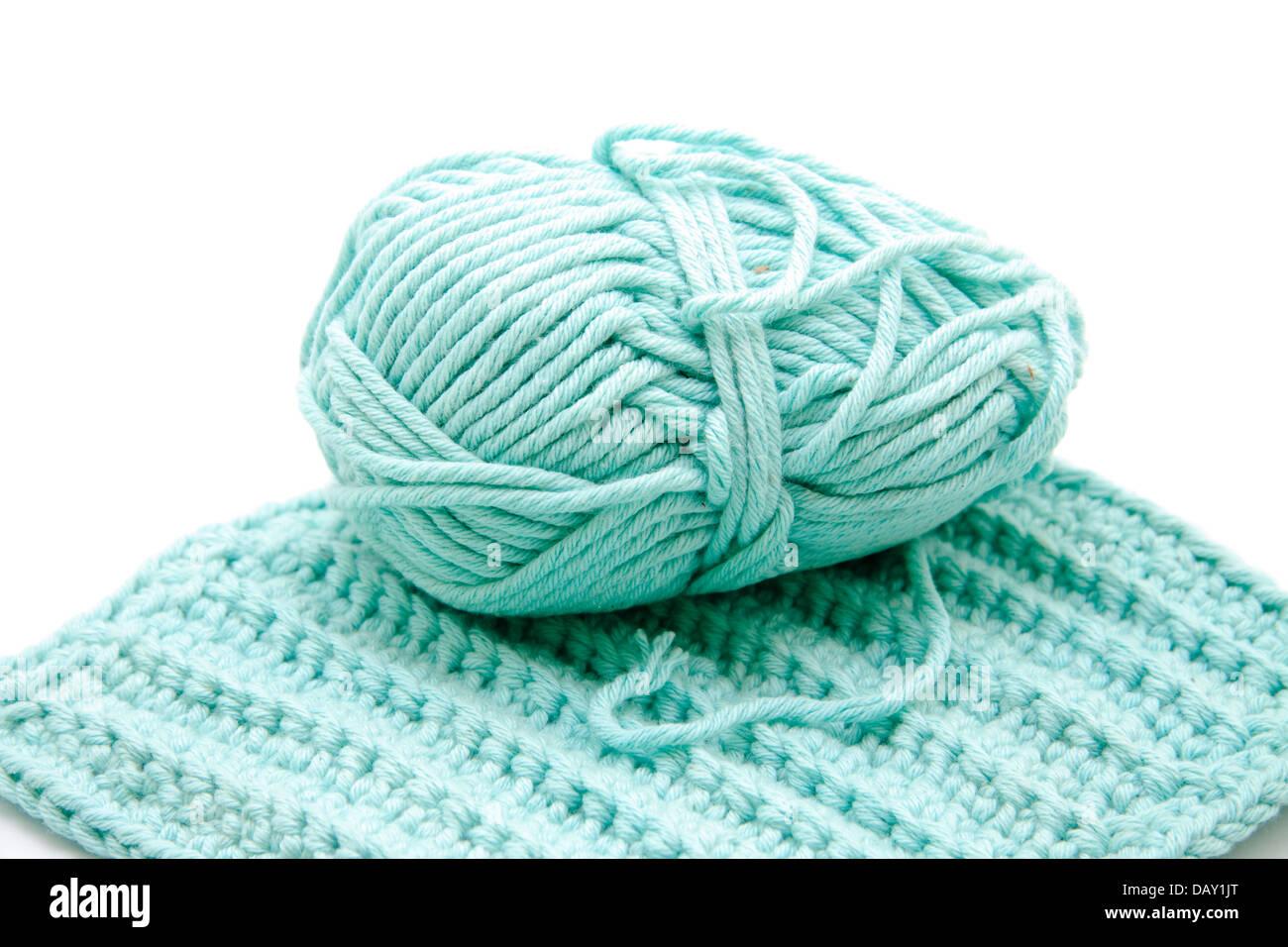 Crochet wool - Stock Image