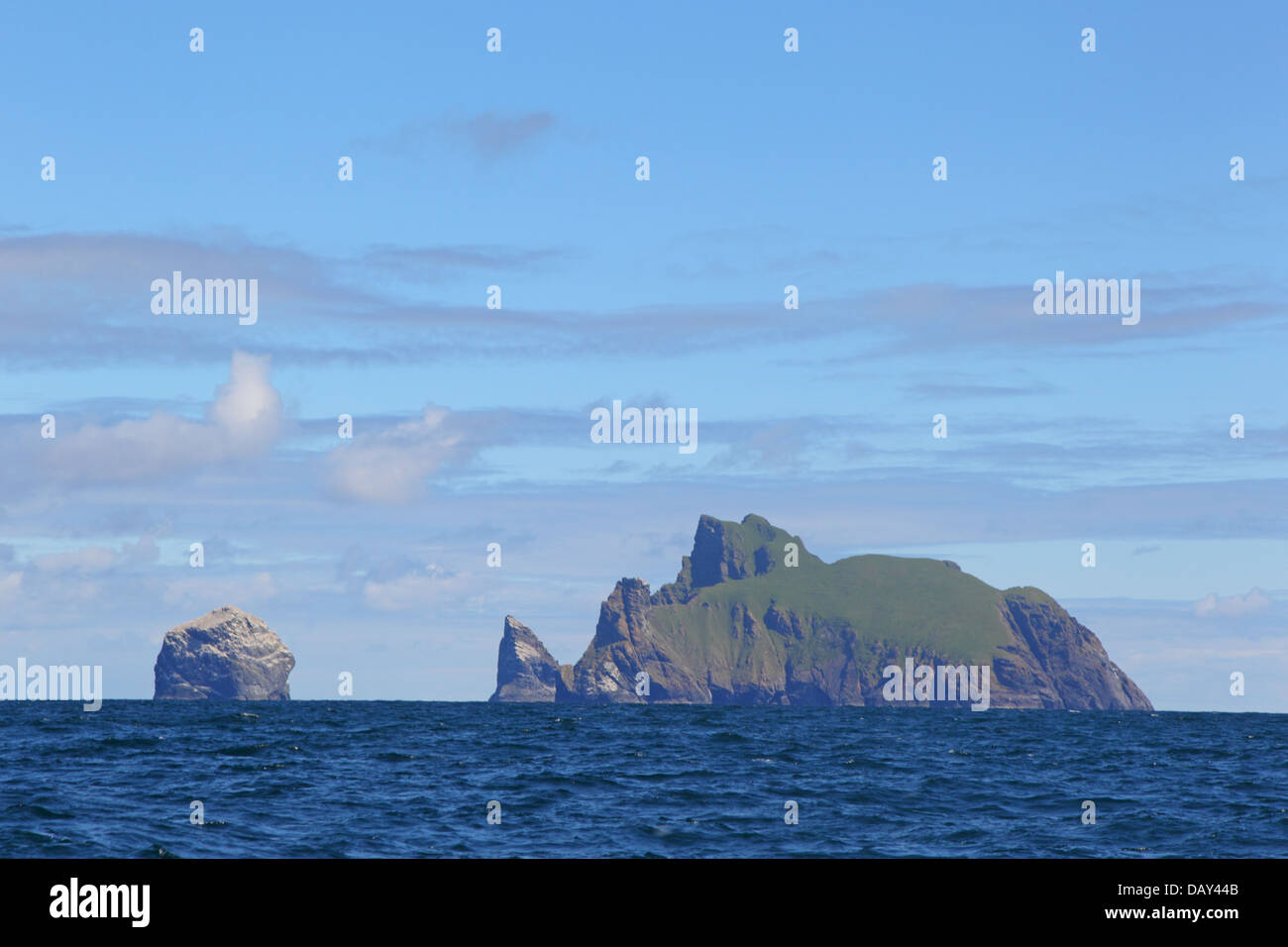 Stac Lee, Stac an Armin and Boreray Islands. Gannet colony. St. Kilda Archipelago. Outer Hebrides. Scotland, UK - Stock Image