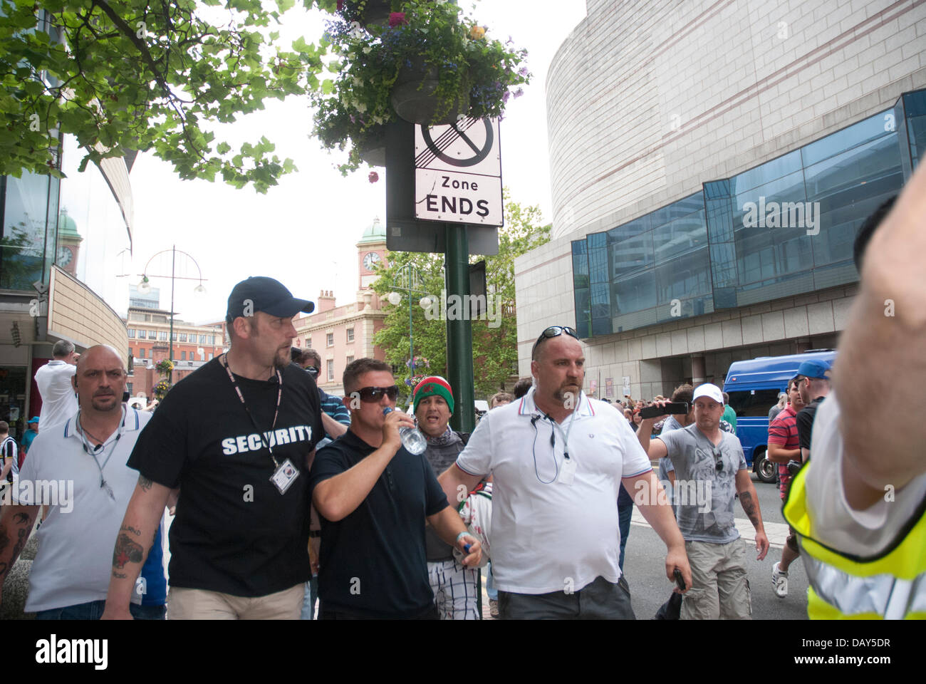 Birmingham, UK. 20th July, 2013. English Defence League leader Tommy Robinson (real name Stephen Yaxley-Lennon) - Stock Image