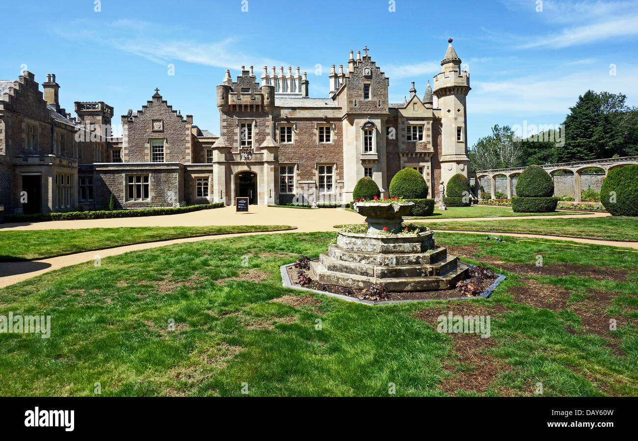 Entrance to Abbotsford House home of Sir Walter Scott in Melrose Scottish Borders Scotland - Stock Image