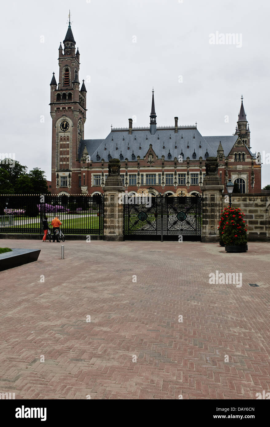 View of the International Court of Justice (or World Court) in The Hague. - Stock Image