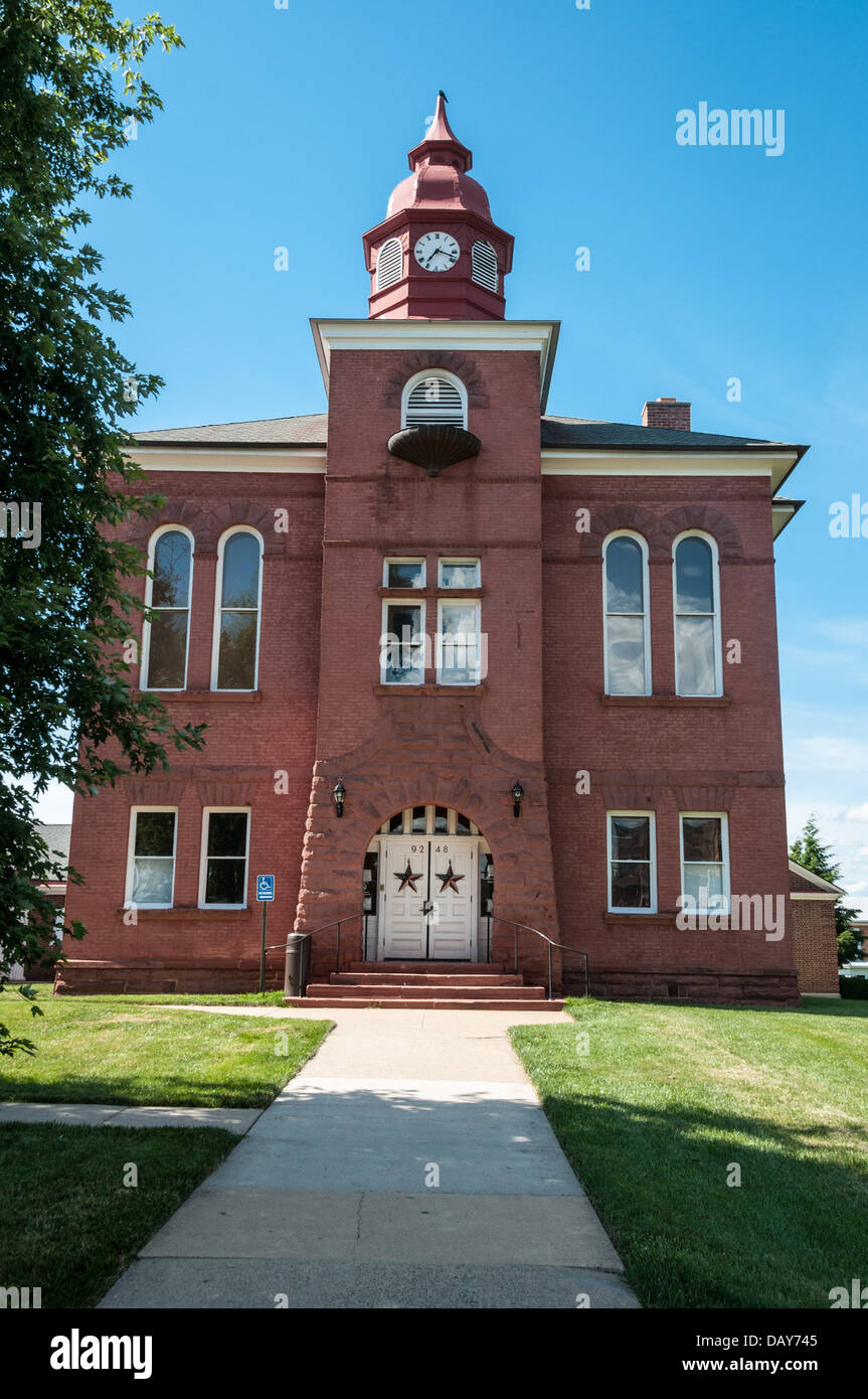 Old Prince William County Courthouse, Lee Avenue, Manassas, Virginia - Stock Image
