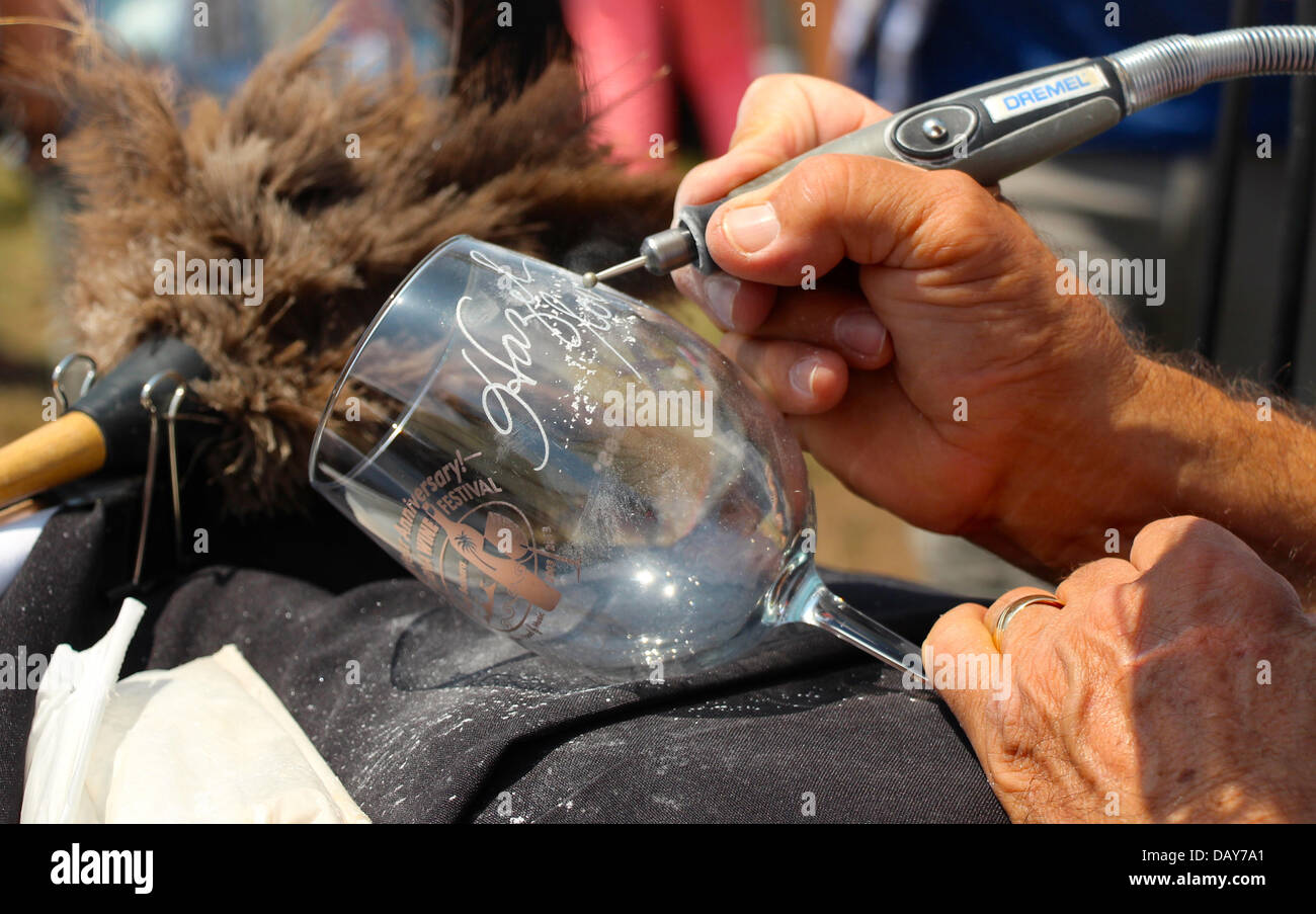 20 July 2013 The Tenth Annual California Wine Festival held in Santa Barbara, California featuring over 250 wines - Stock Image