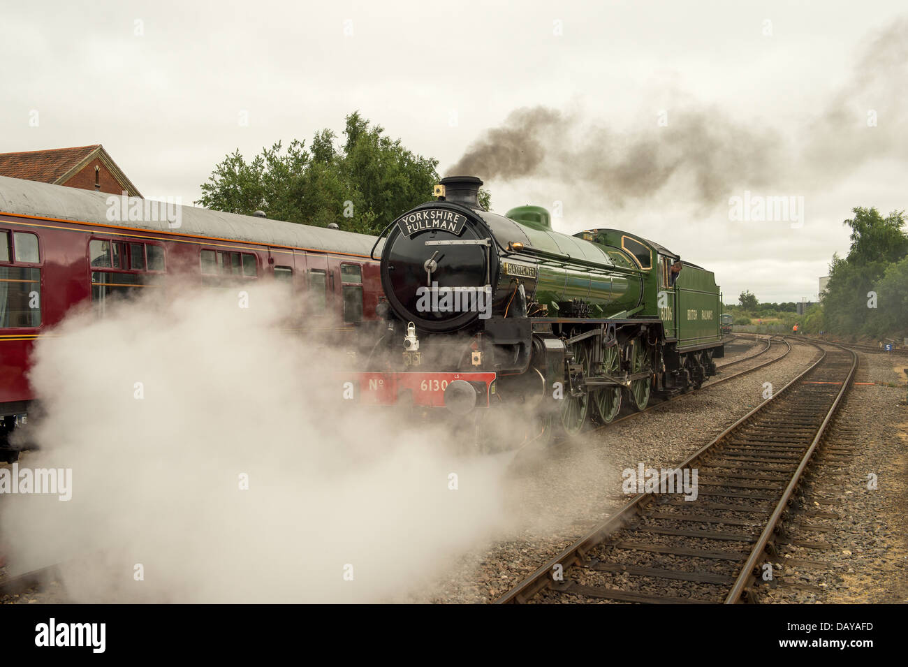 Mayflower 61306 stands at Dereham Station on the Mid Norfolk Railway. Stock Photo