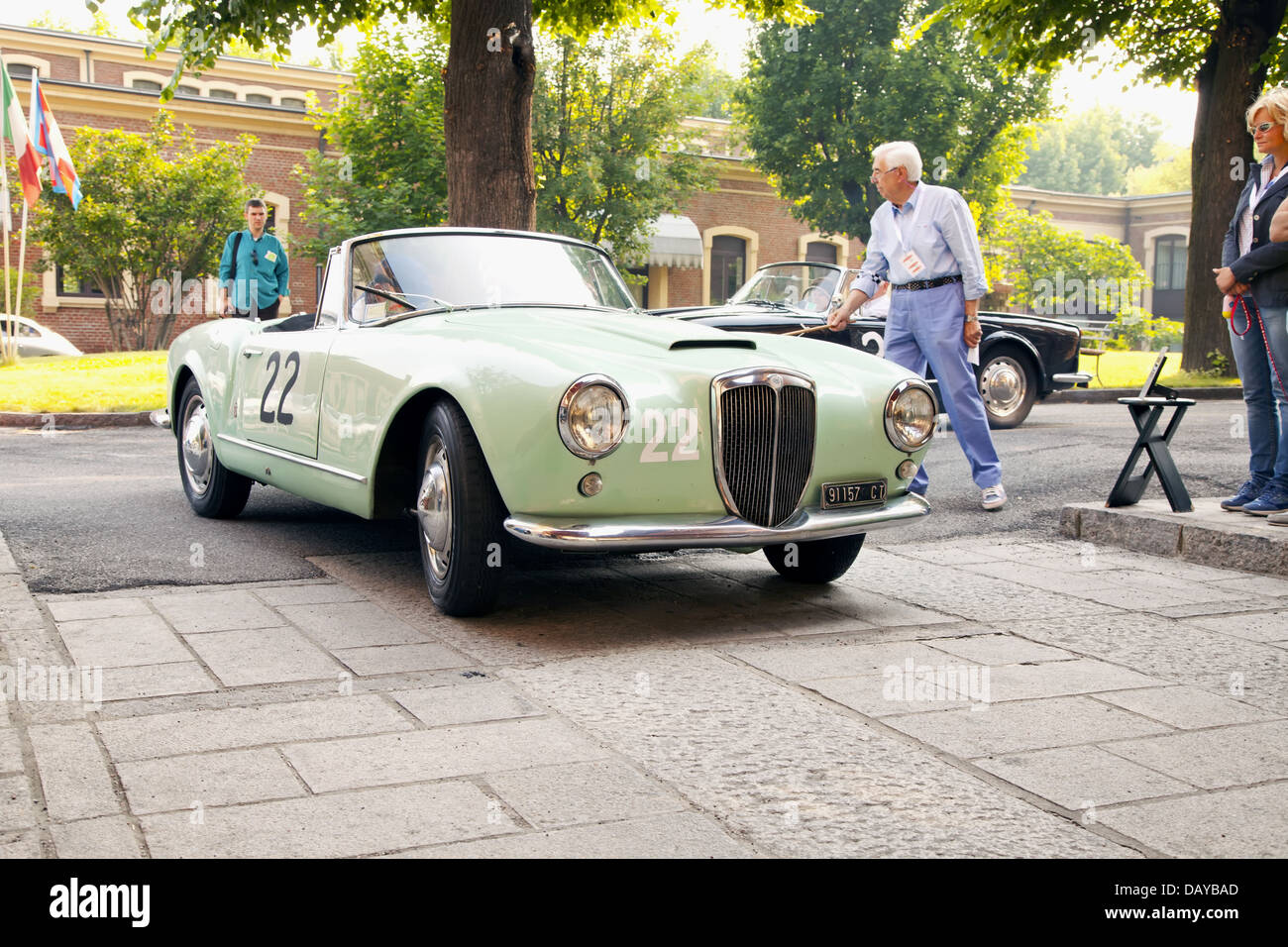 https://c8.alamy.com/comp/DAYBAD/1956-lancia-aurelia-b-24-at-the-start-of-race-memorial-bordino-in-DAYBAD.jpg