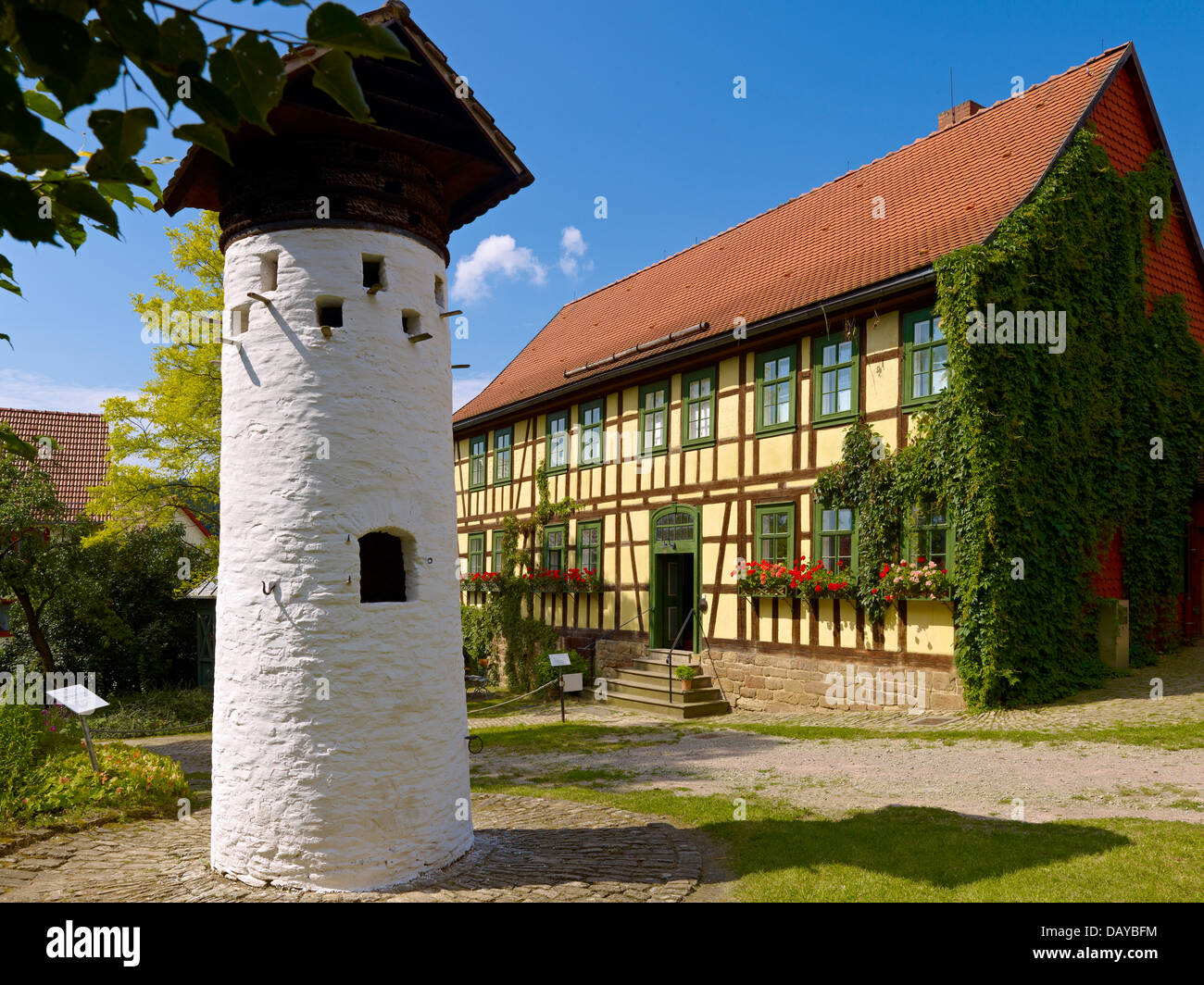 Open air museum Hohenfelden, dovecote, Thuringia, Germany - Stock Image