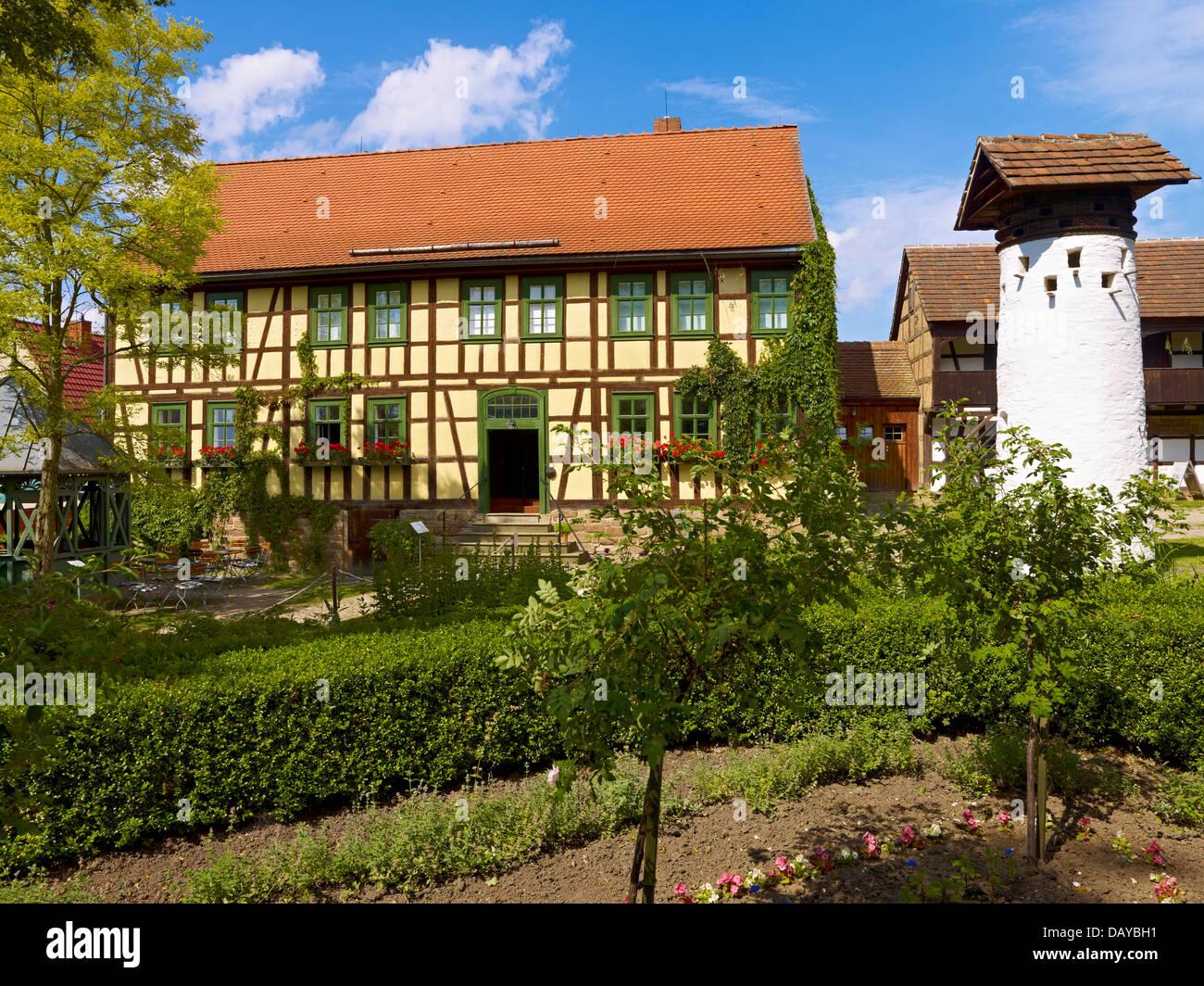 Open air museum Hohenfelden, Ilmkreis, Thuringia, Germany - Stock Image