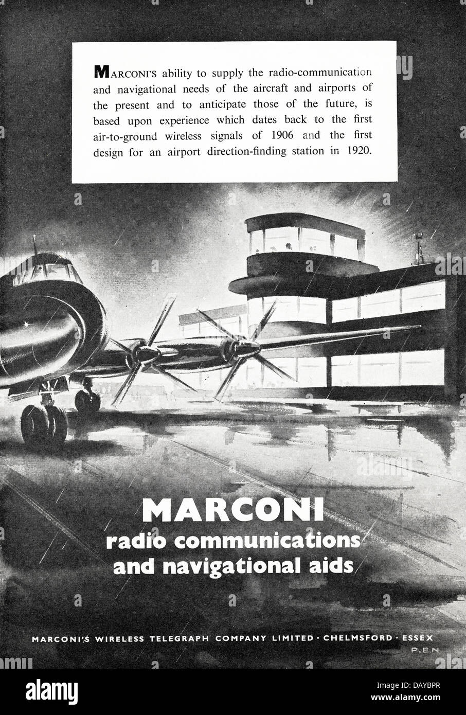 Advert for aircraft radio communication and navigational aids by