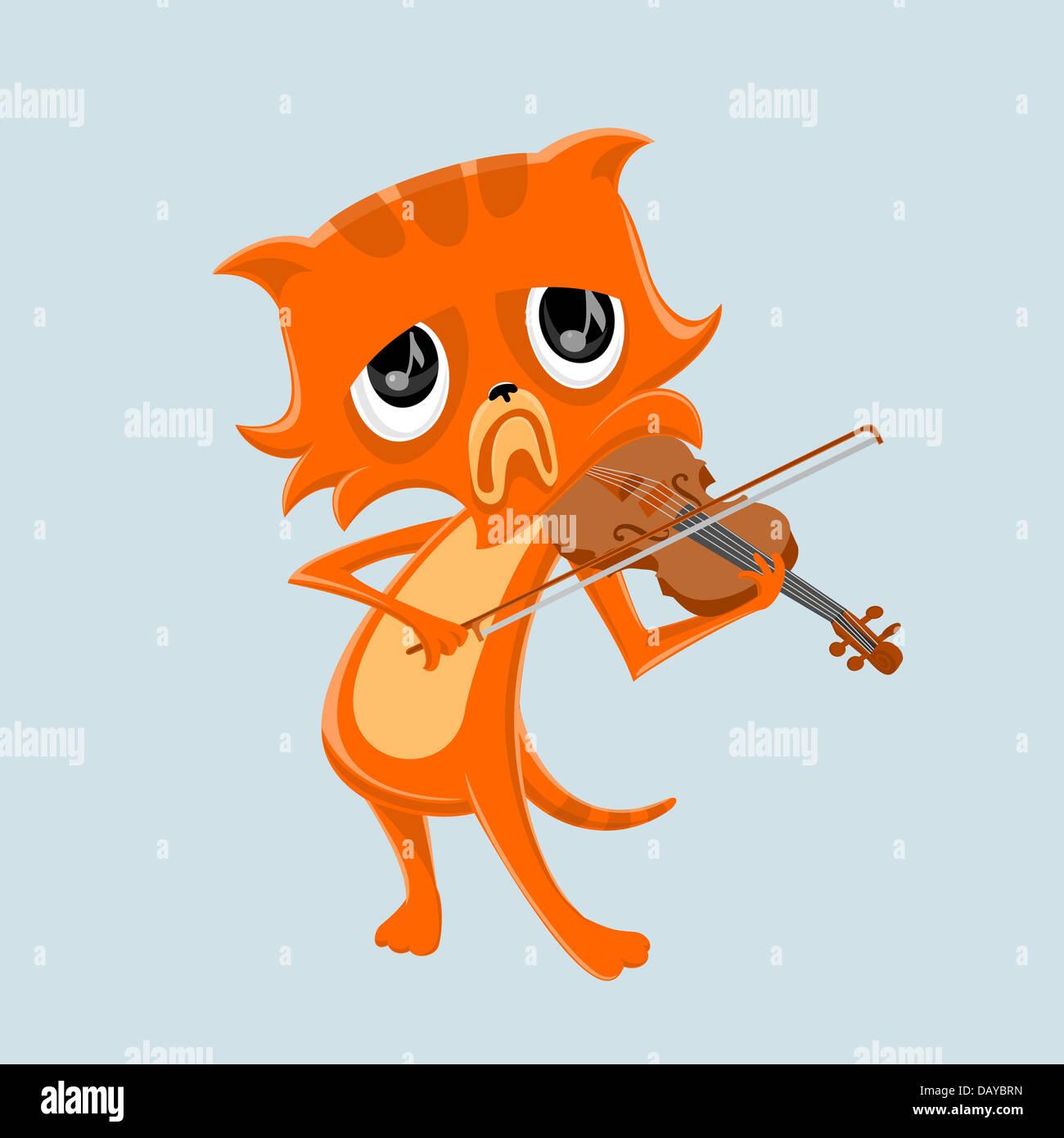 Very sad music - Stock Image