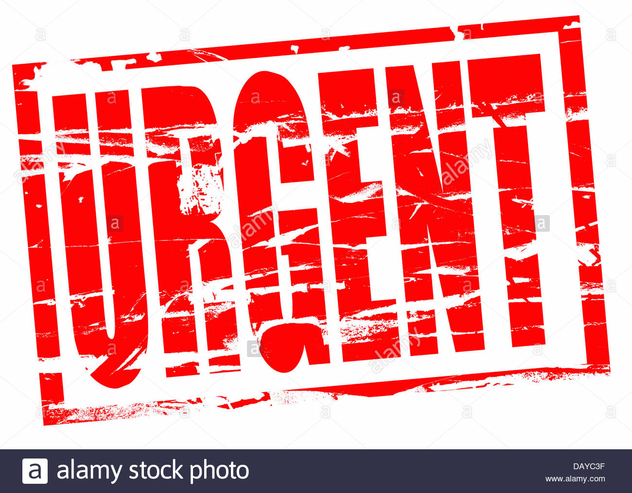 Digital composite Rubber stamp. Urgent - Stock Image