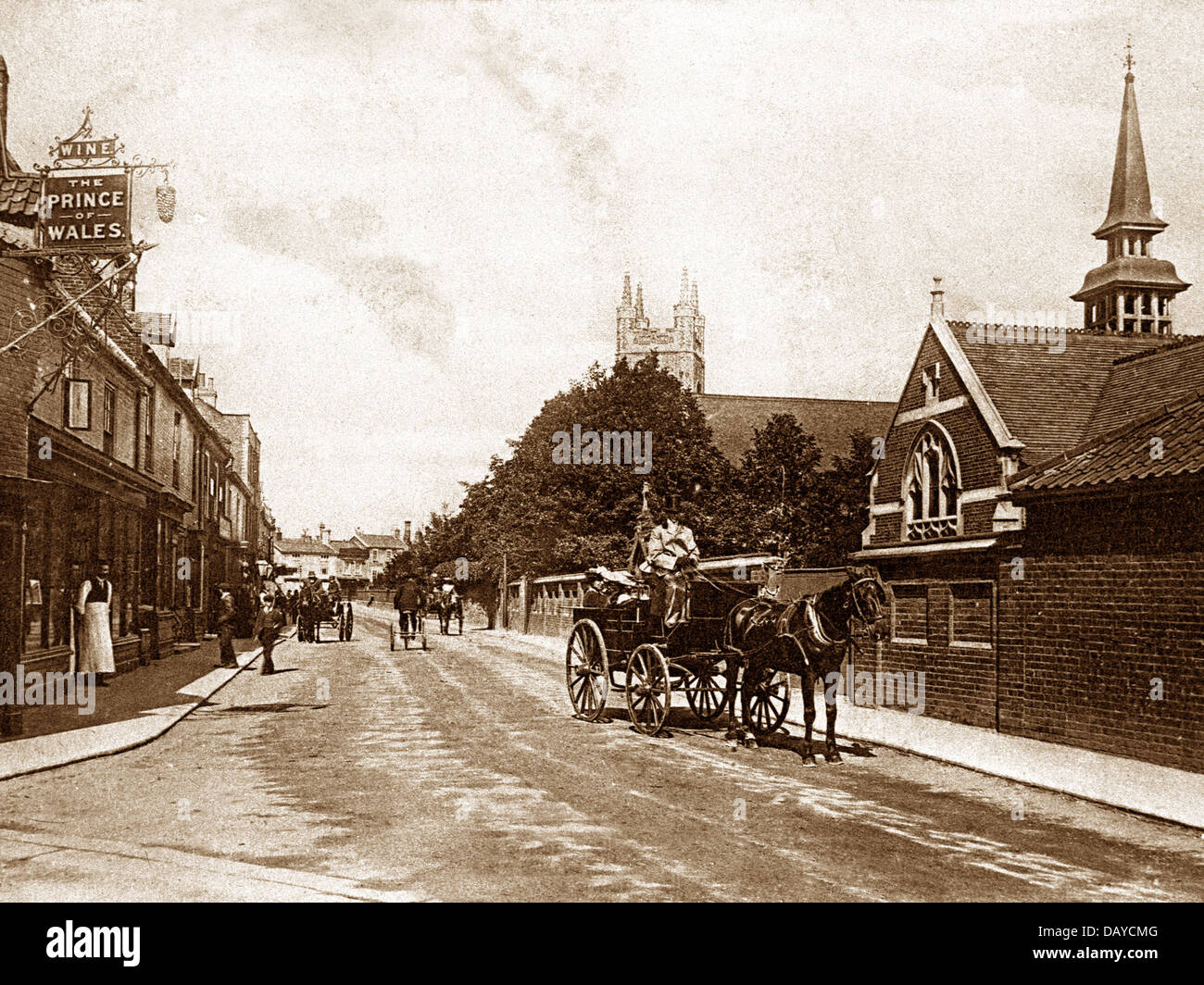 Bungay St. Mary's Street early 1900s - Stock Image