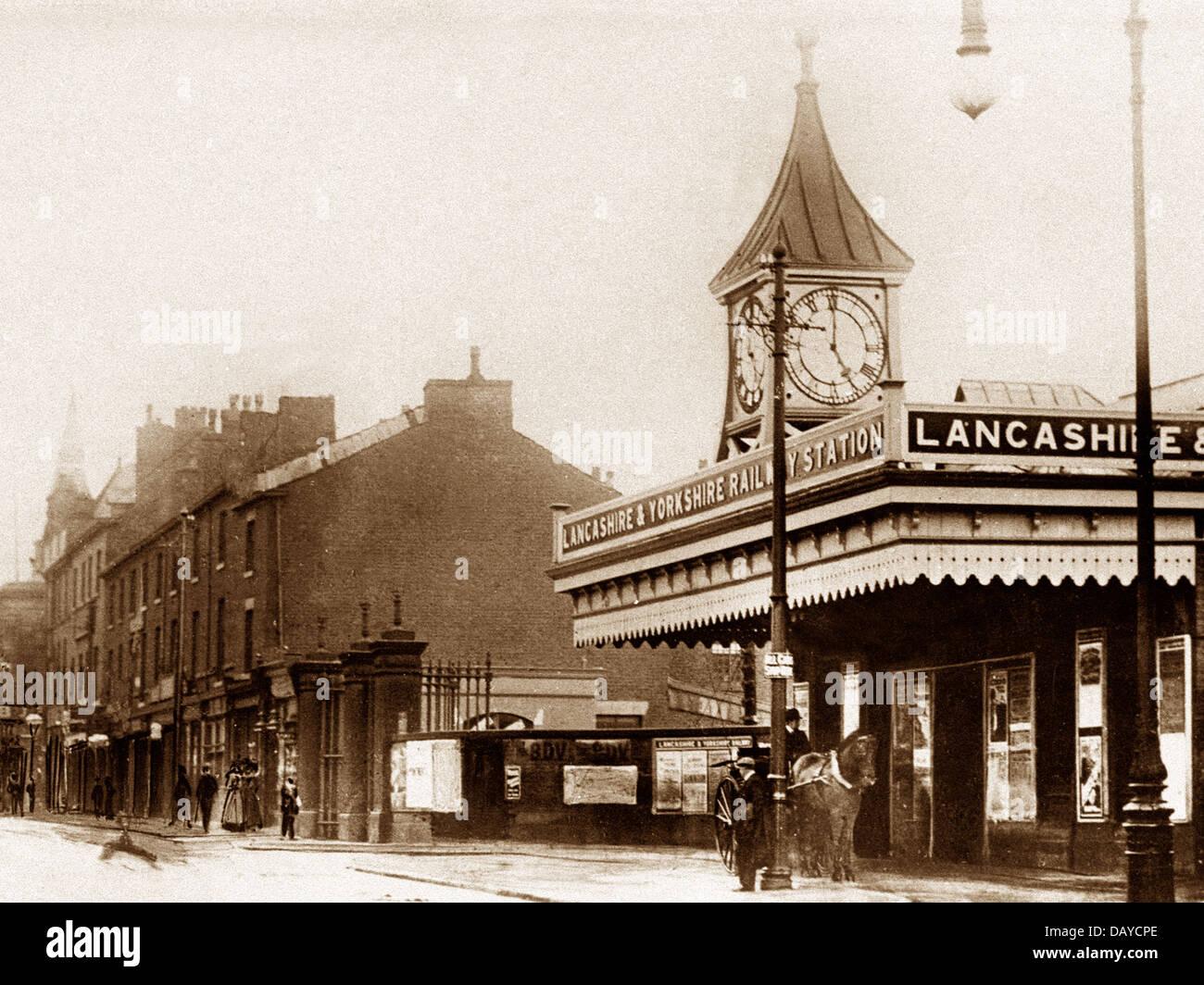 Bury Bolton Street Railway Station early 1900s - Stock Image