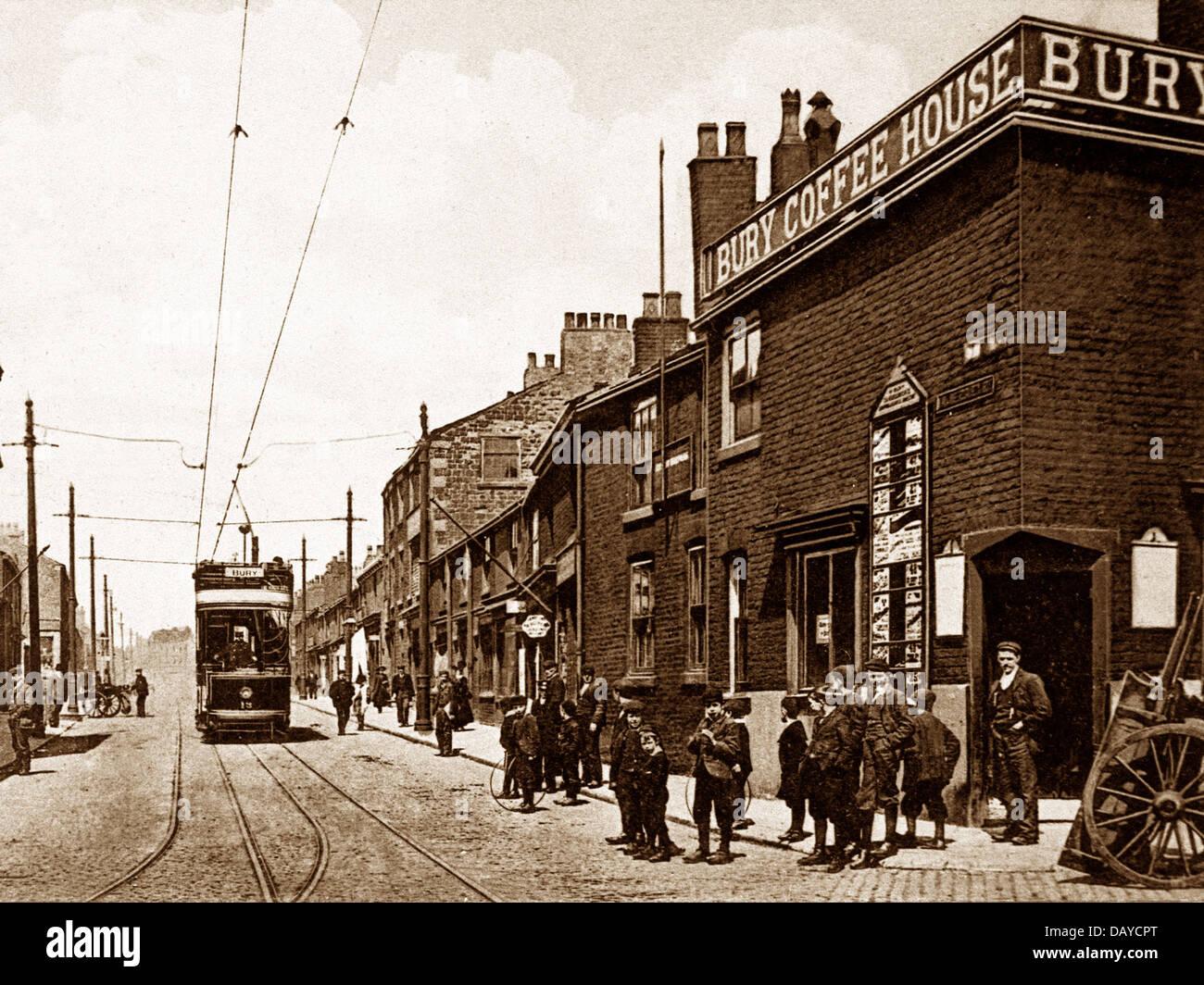 Bury Walmersley Road early 1900s - Stock Image