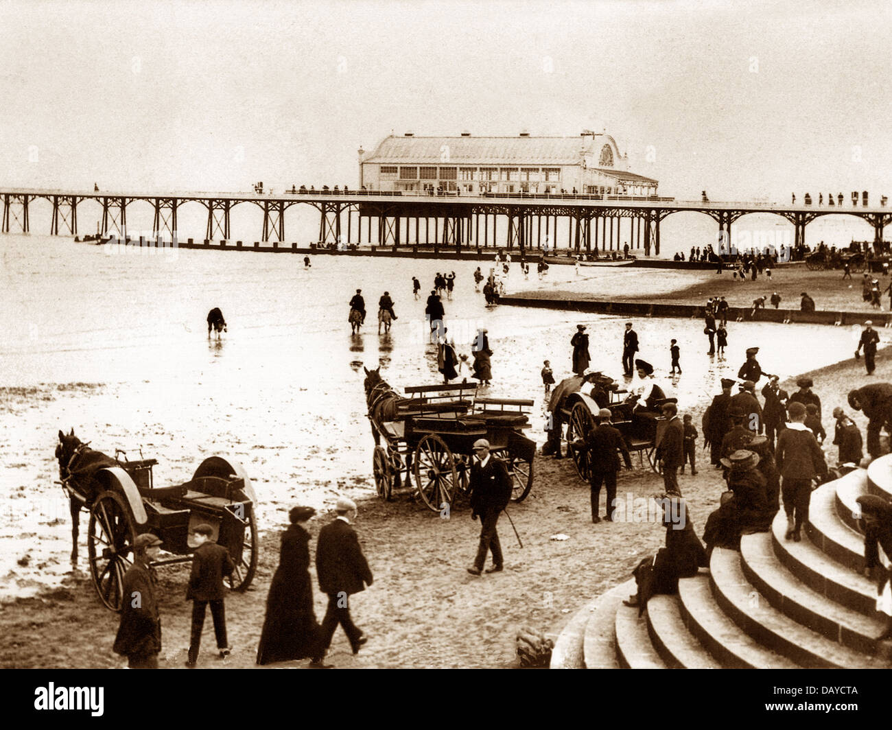 Cleethorpes Pier early 1900s - Stock Image