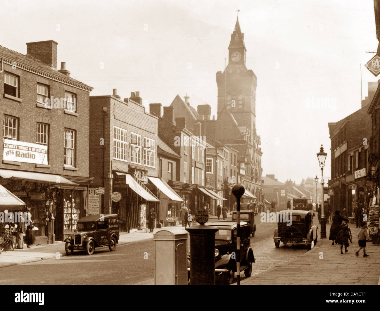 Congleton High Street probably 1930s - Stock Image