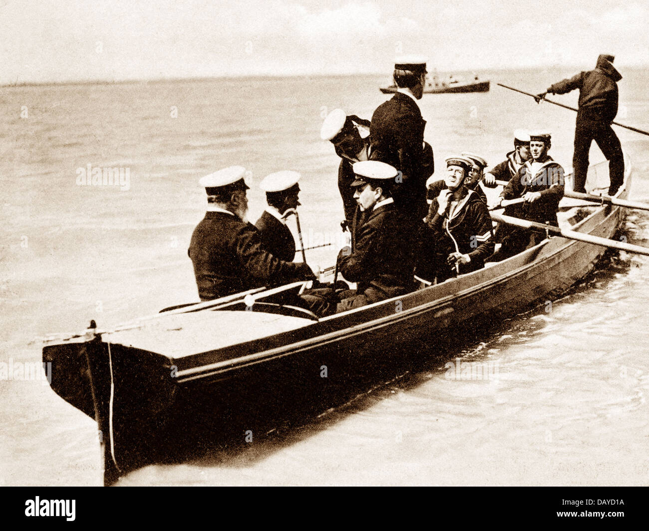 Cowes Week King Edward VII Isle of Wight early 1900s - Stock Image