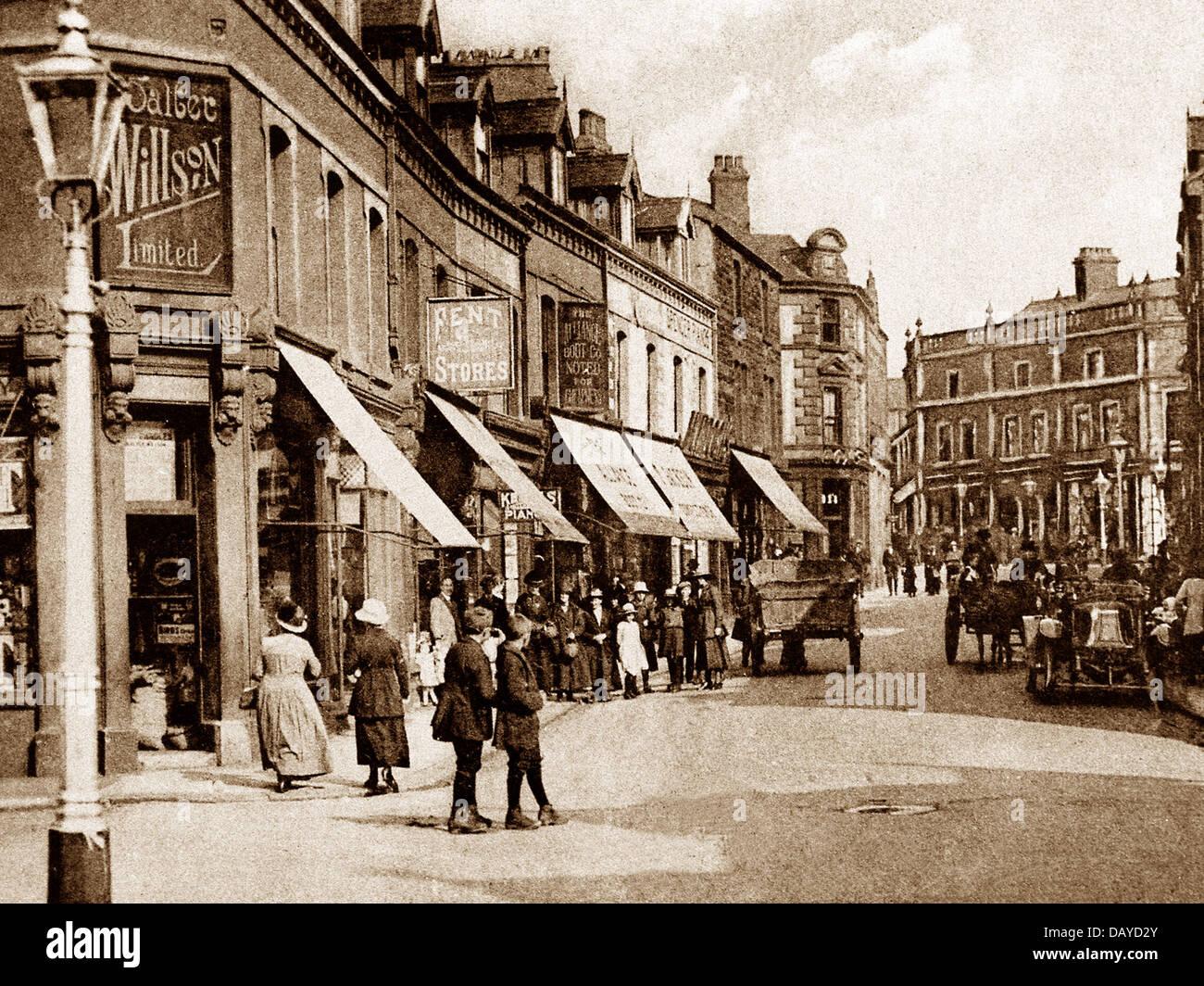 Workington Fisher Street early 1900s - Stock Image