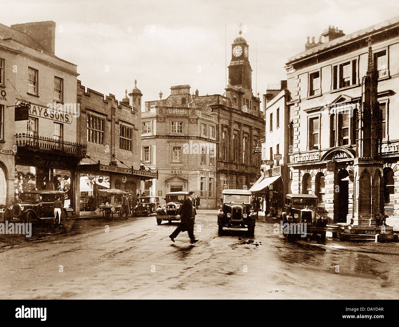 Yeovil The Borough probably 1930s - Stock Image