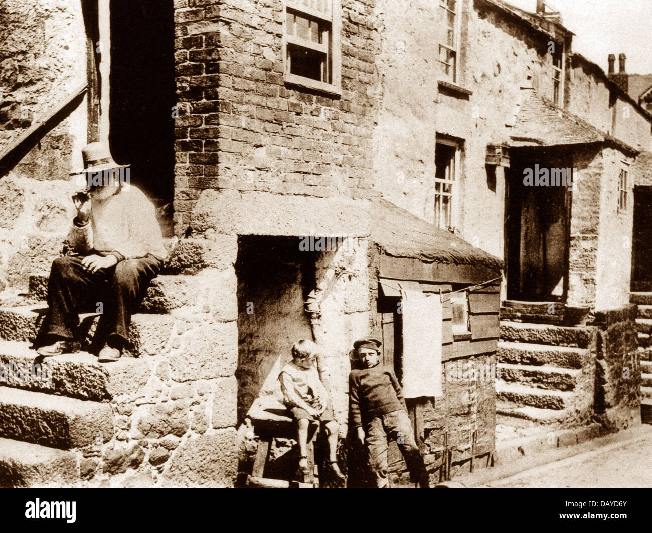 St. Ives early 1900s - Stock Image