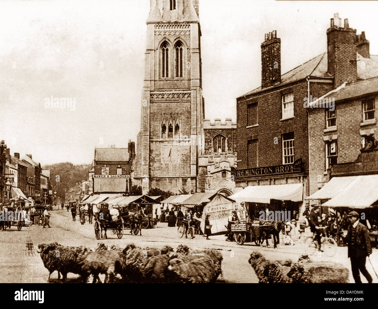 Market Harborough early1900s - Stock Image