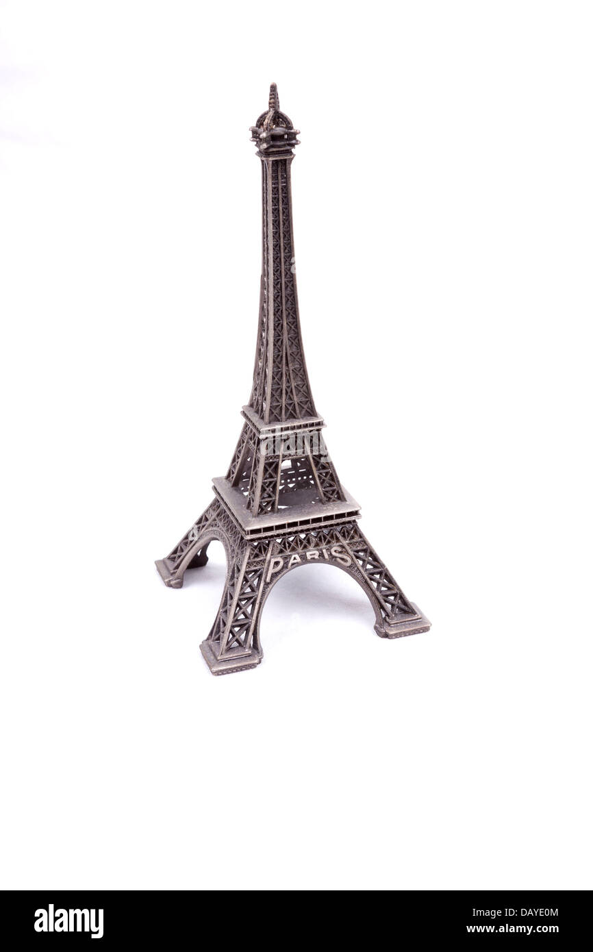Eiffel Tower isolated on white background Stock Photo
