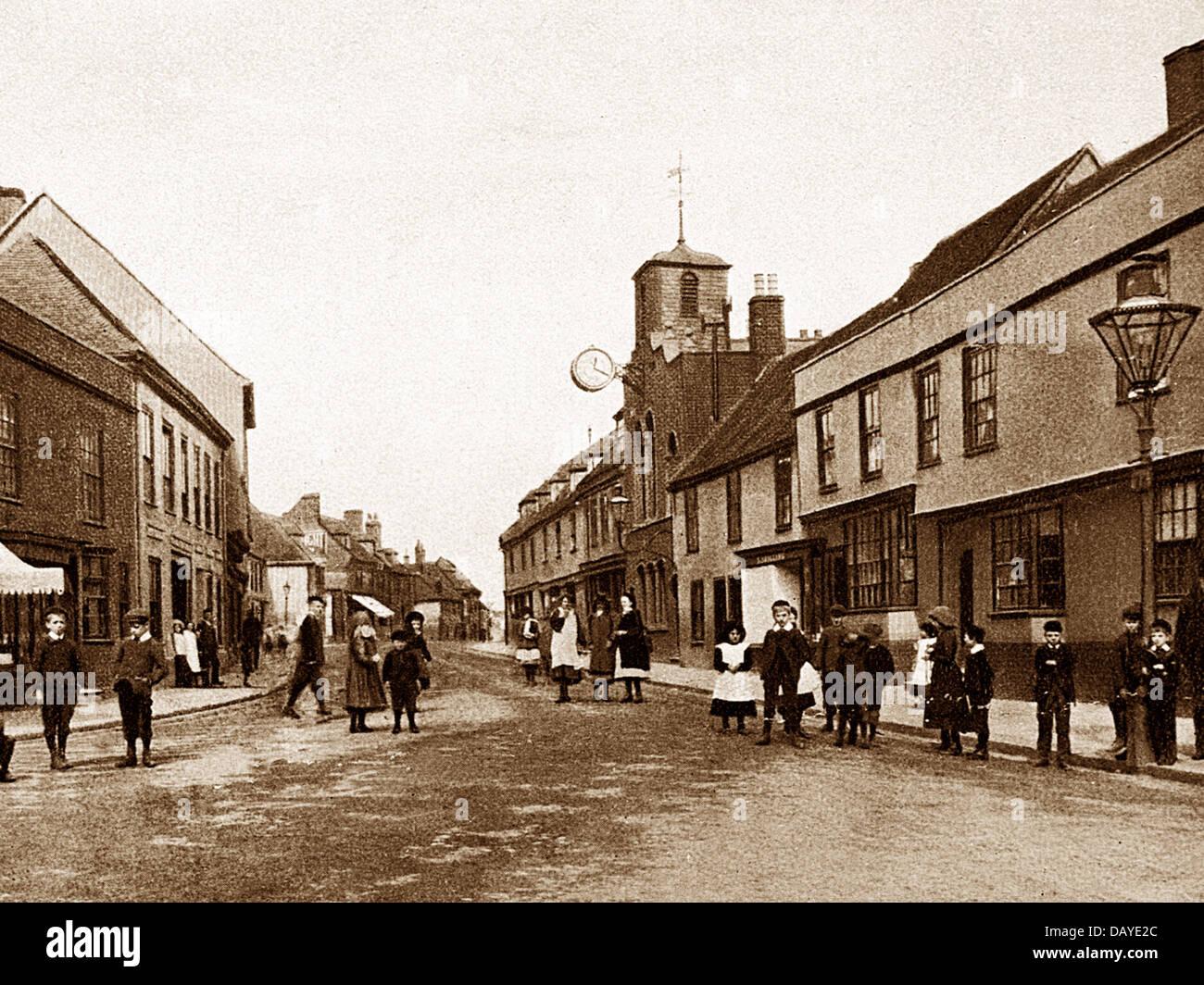 Milton High Street early 1900s - Stock Image