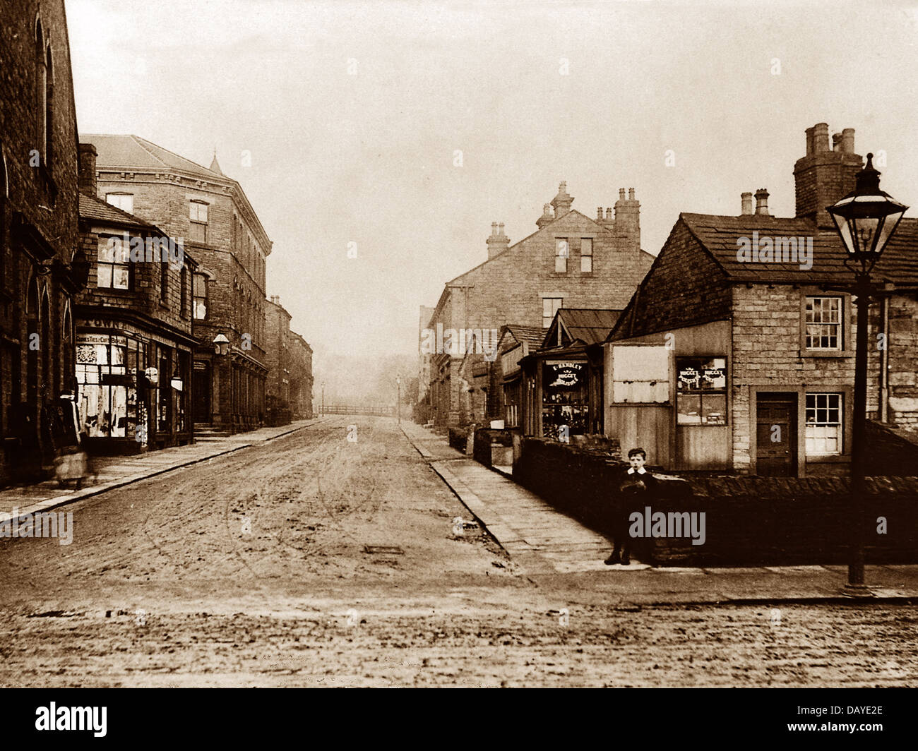 Mirfield Knowl Road early 1900s - Stock Image