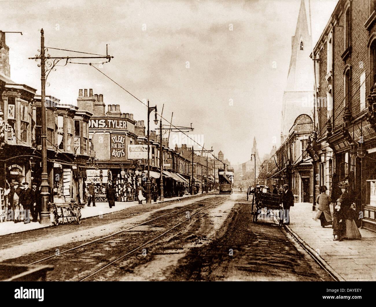 Grimsby Freeman Street early 1900s - Stock Image