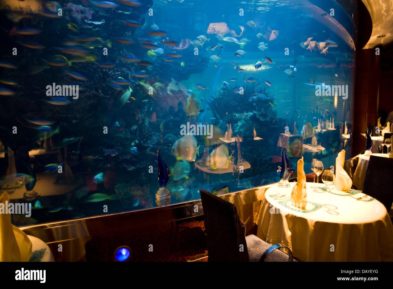 Burj Al Arab Hotel Restaurant Aquarium