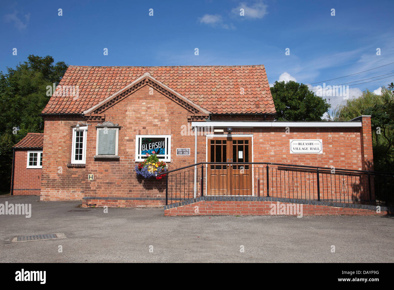 The village hall at Bleasby, Nottinghamshire, England, U.K. - Stock Image