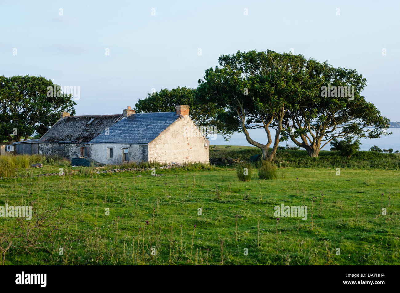 House on the Copeland Island, Northern Ireland, which is occupied during the summer. - Stock Image