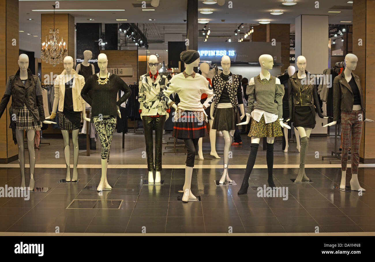 61ca7e2b84c Mannequins in the women's clothing department at Bloomingdales department  store in Manhattan, New York City