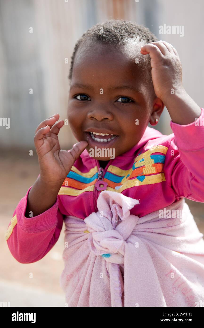Girl, Imizamo Yethu township, Hout Bay, Cape Town, South Africa Stock Photo