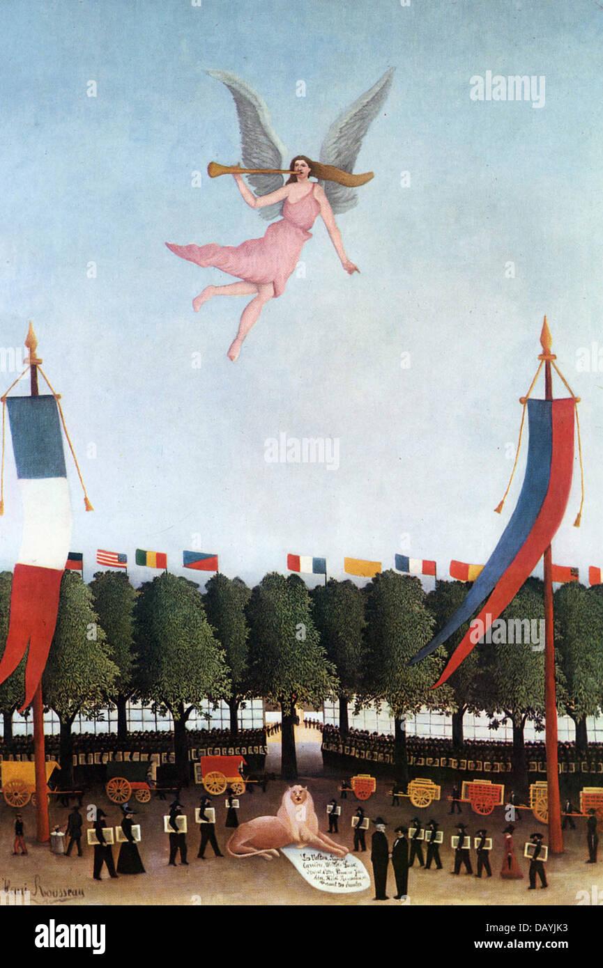 Henri Rousseau - Le Douanier Rousseau La Liberté invitant les artistes à prendre part à la 22ème - Stock Image