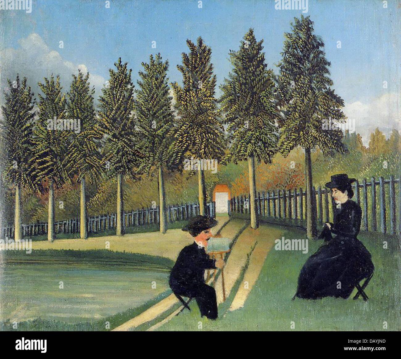 Henri Rousseau - Le Douanier Rousseau Le peintre et sa femme The Painter and his wife 1899 Musée National d'Art Stock Photo