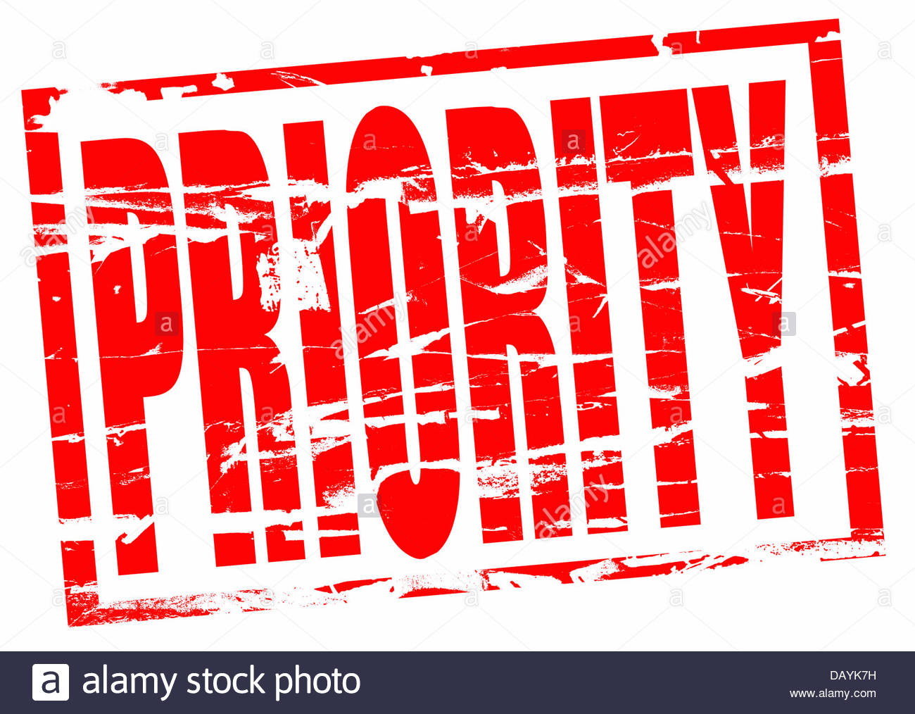 Digital composite Rubber stamp. Priority - Stock Image