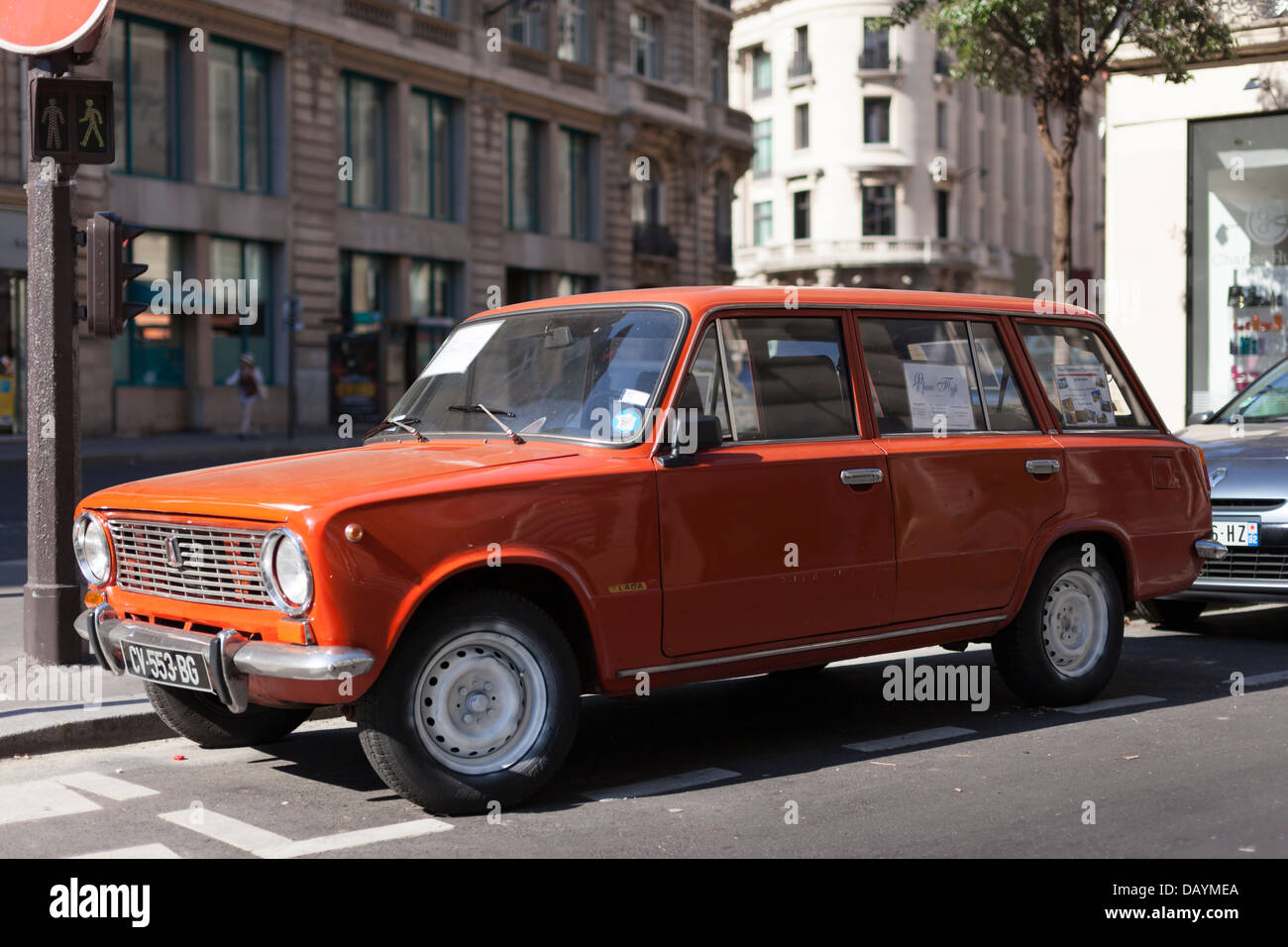 A Lada 2102 estate parked in Paris, France