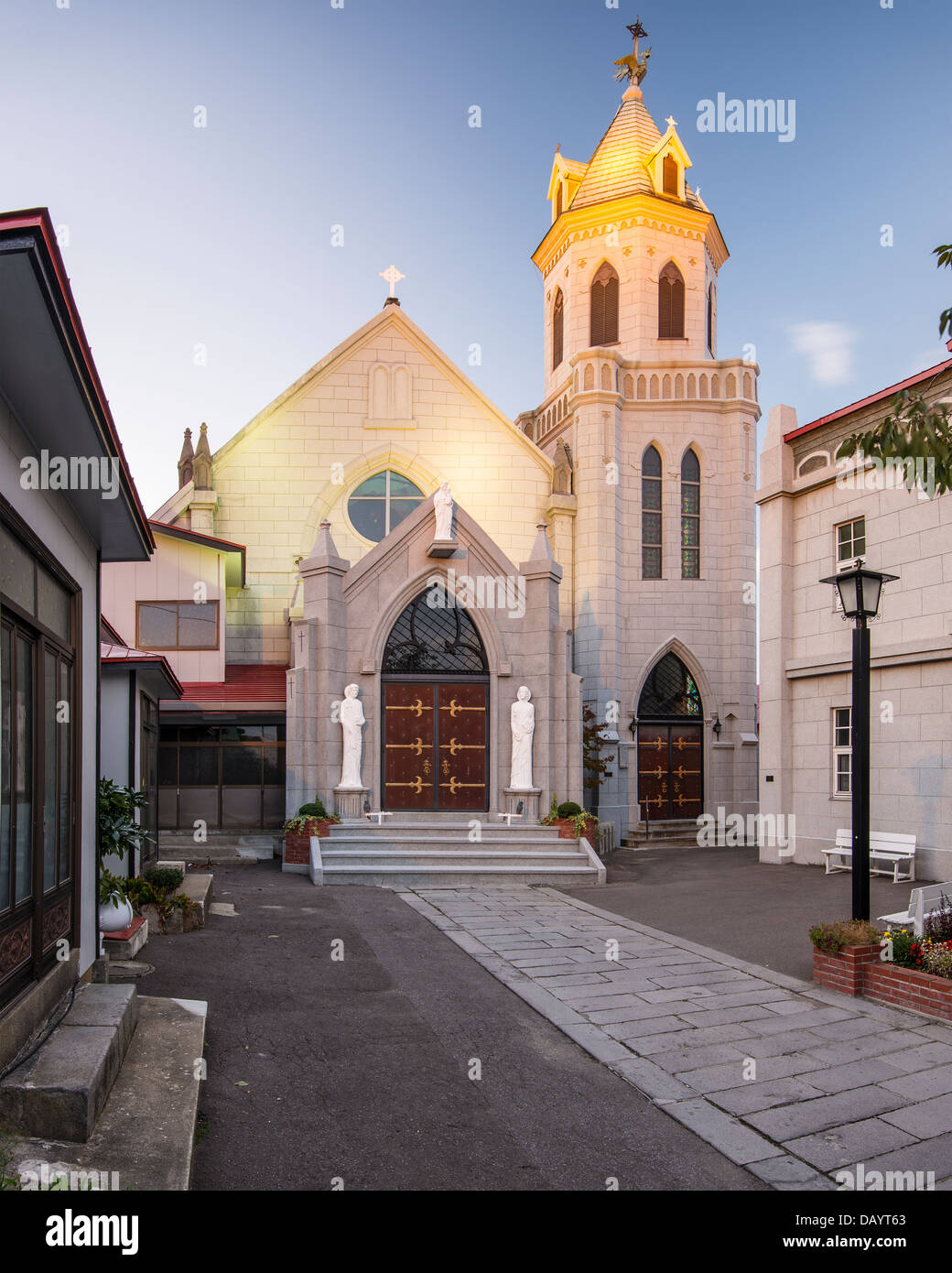 Motomachi Catholic Church. The church dates back to 1877. - Stock Image