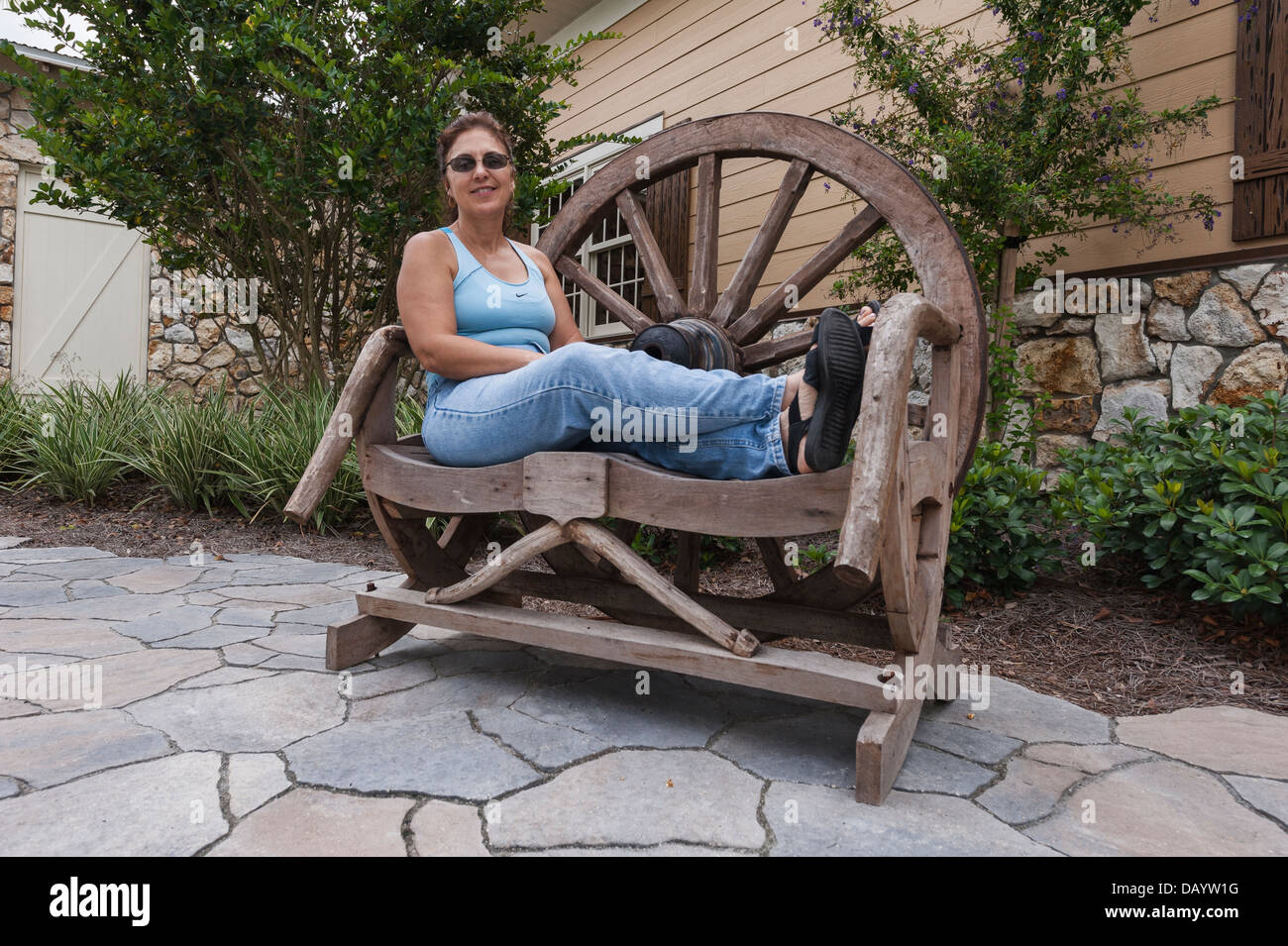 by image royalty photo basket flower free on picture detail bench garden stock wagon wheel hanging