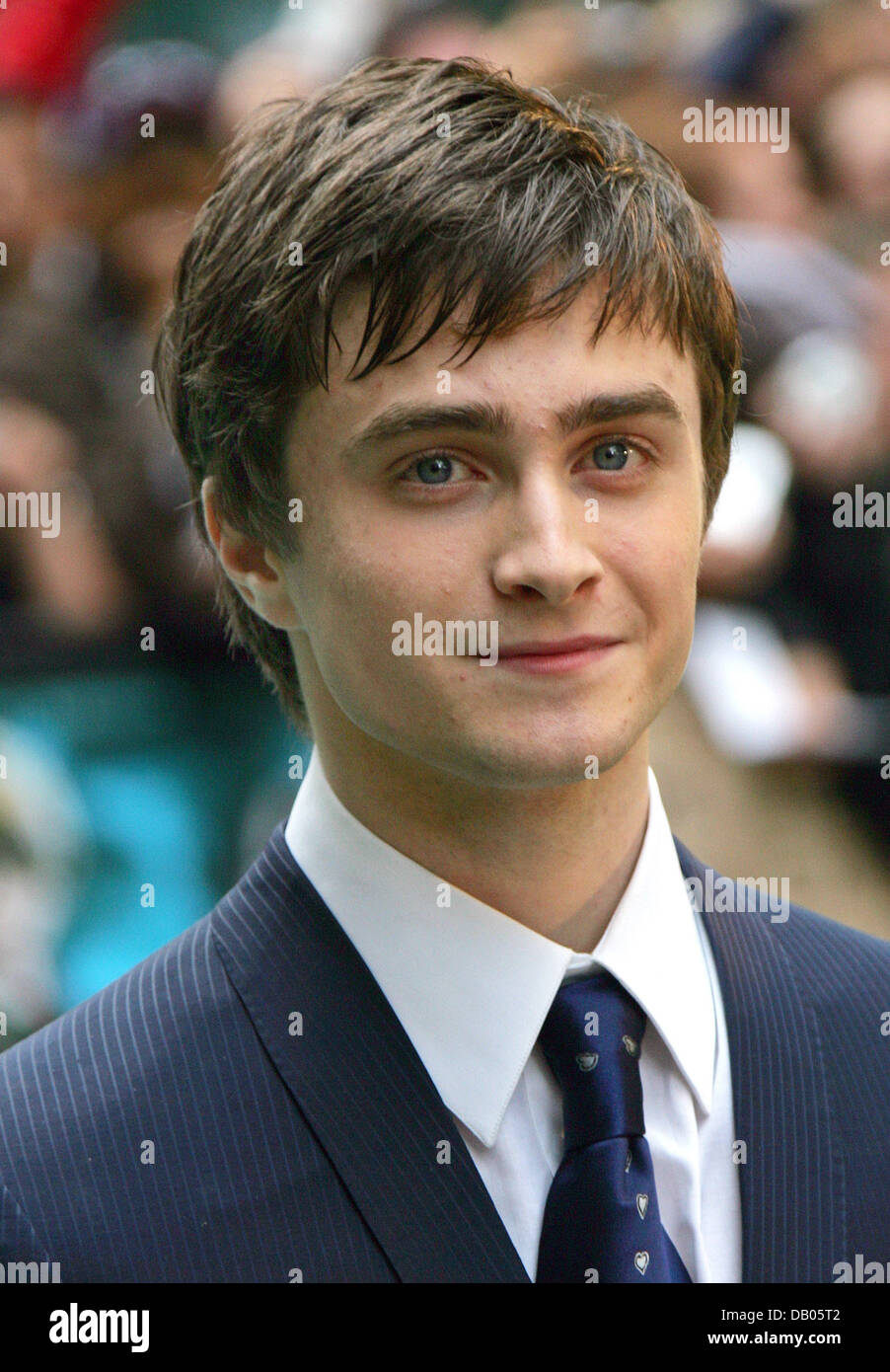 British actor Daniel Radcliffe arrives for the UK premiere of his film 'Harry Potter and the Order of the Phoenix' - Stock Image
