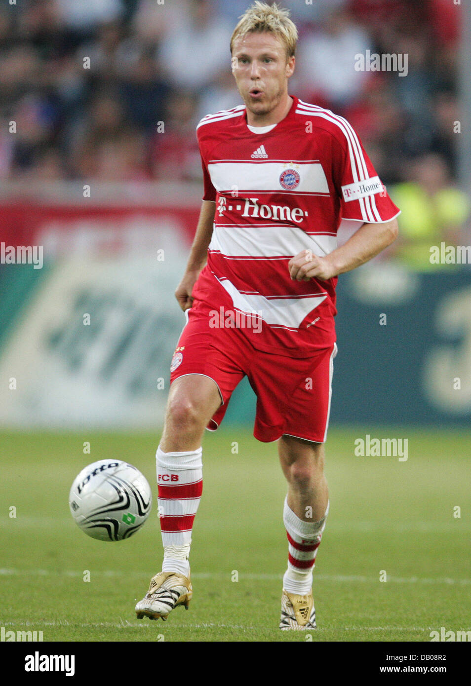 Christian Lell of Bayern Munich pictured during the test cap Borussia Moenchengladbach v FC Bayern Munich at the Stock Photo