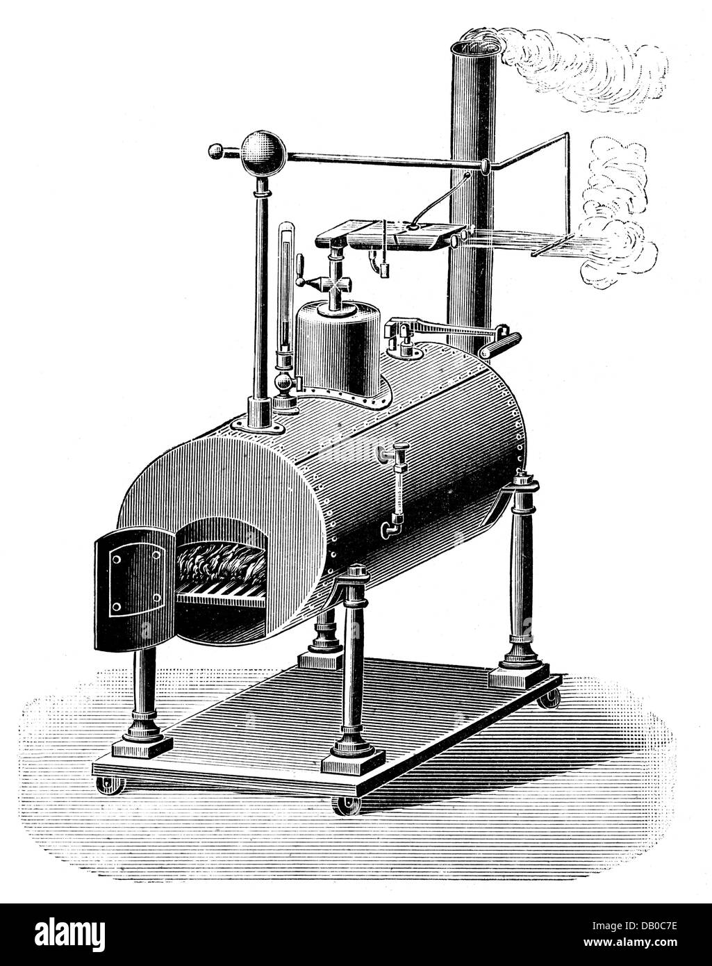 energy, electricity, steam-driven electric machine, invented by William Armstrong (1810 - 1900), 1840, Additional - Stock Image