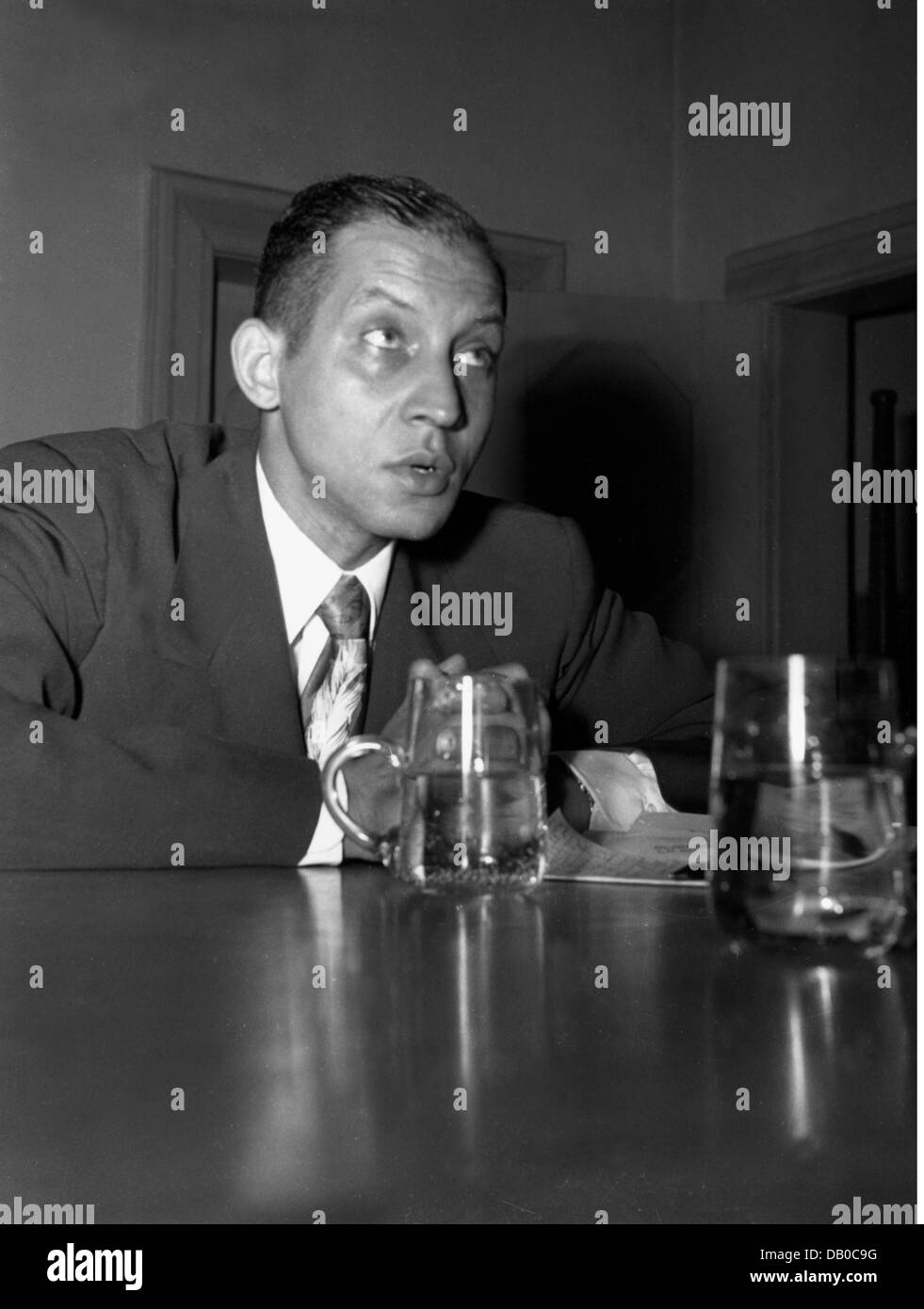 Lee, J. Oscar, American clergyman, lecture about the situation of coloured children in the USA, Nuremberg, early - Stock Image