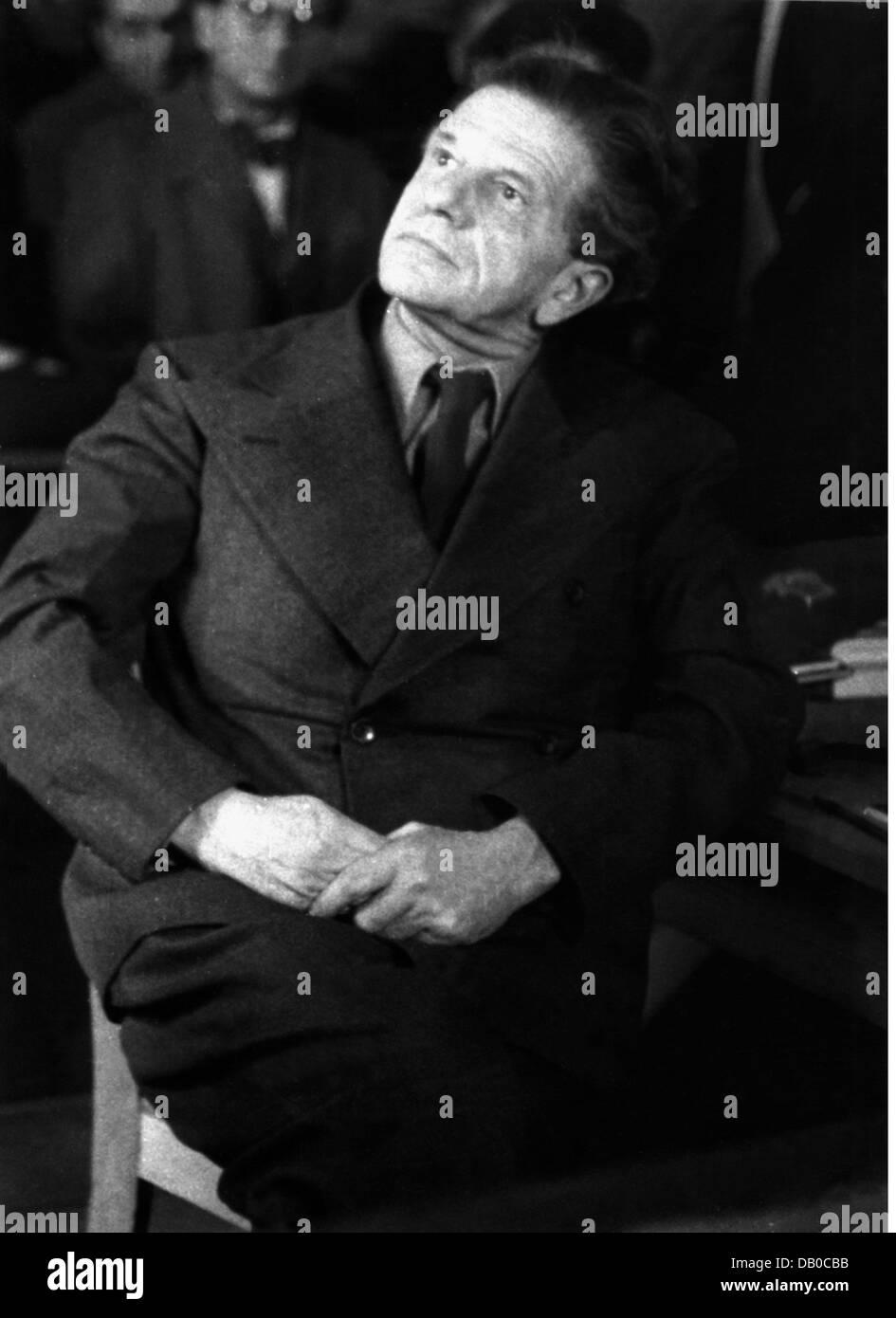 Johst, Hanns, 8.7.1890 - 23. 11.1978, German author / writer, president of Reichsschrifttumskammer (RSK) 1935 - Stock Photo